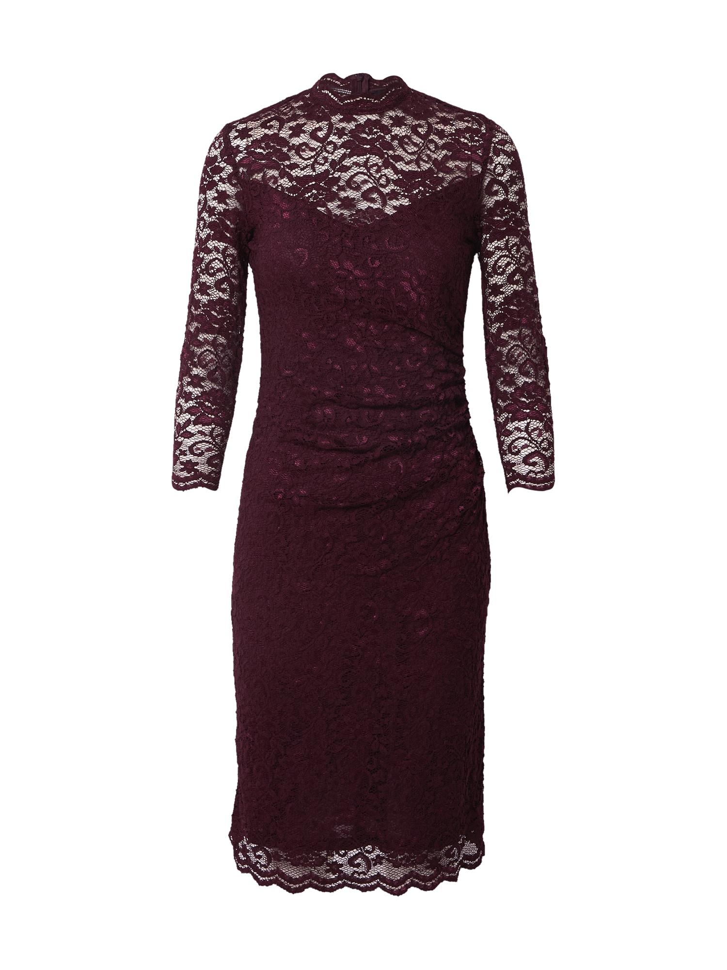 SWING Kokteilinė suknelė baklažano spalva