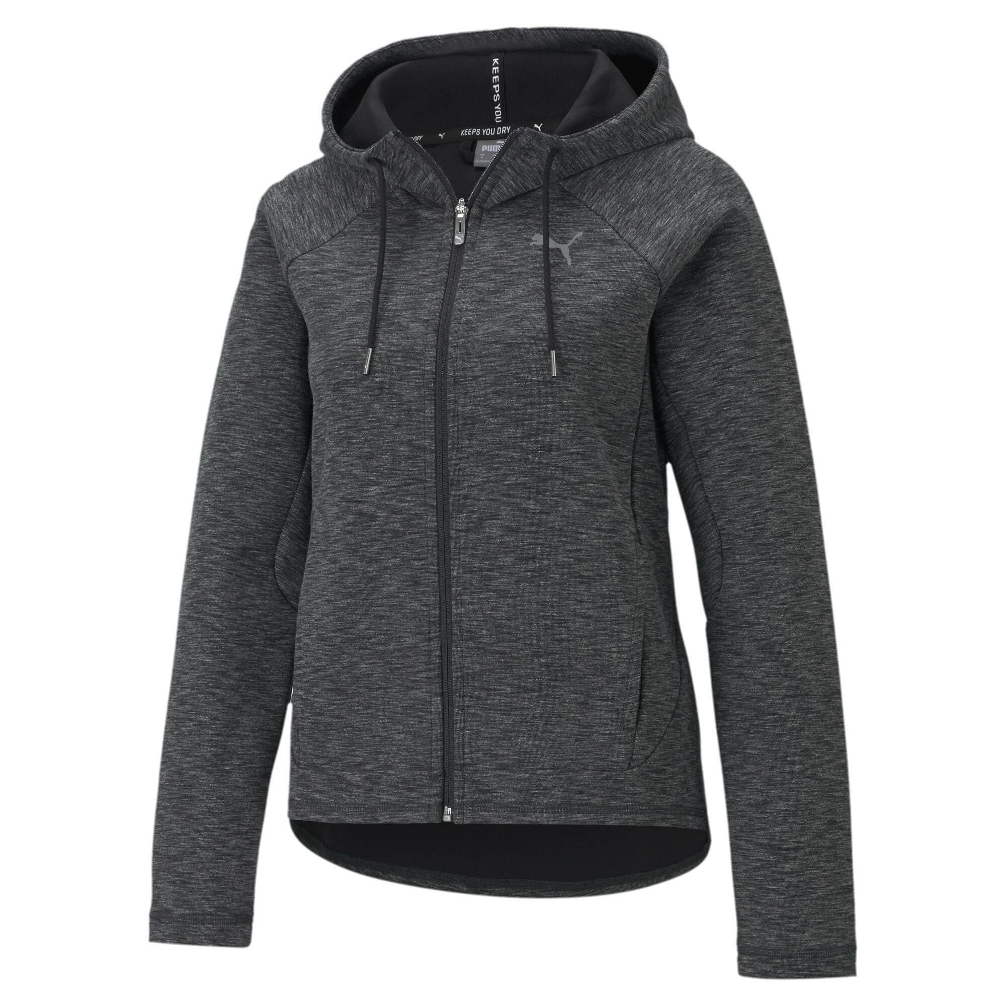 PUMA Sportinis džemperis margai juoda