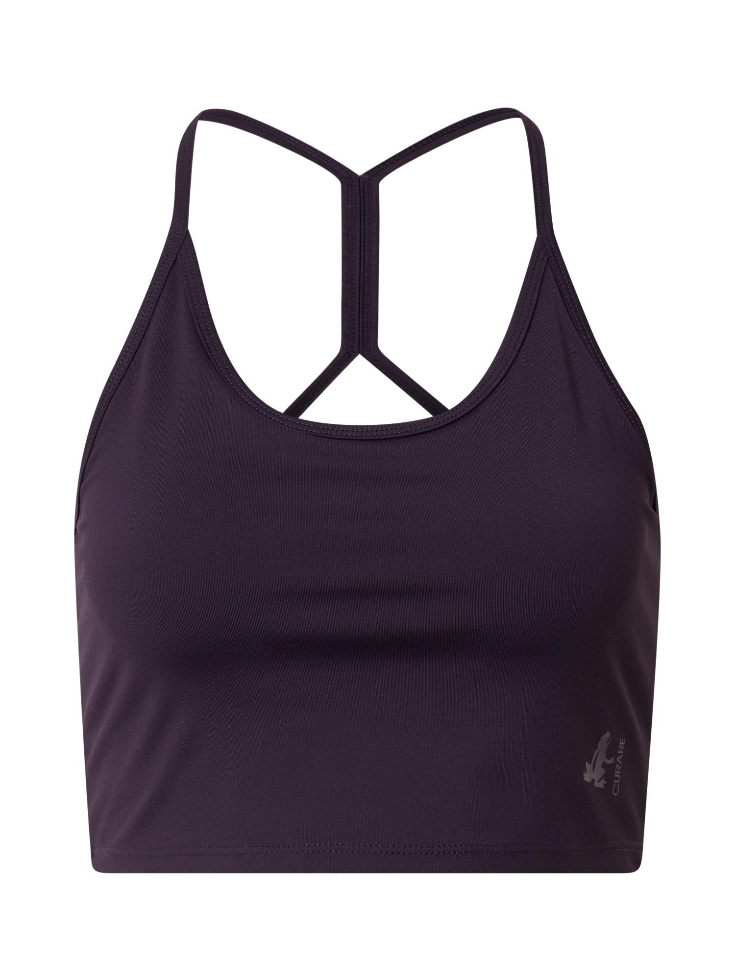 CURARE Yogawear Sportinė liemenėlė slyvų spalva