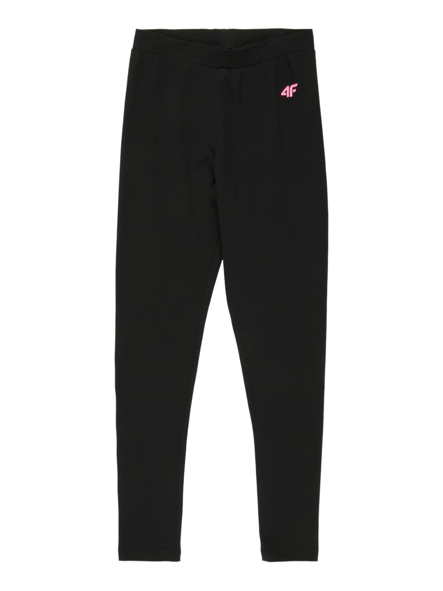 4F Sportinės kelnės juoda / rožinė
