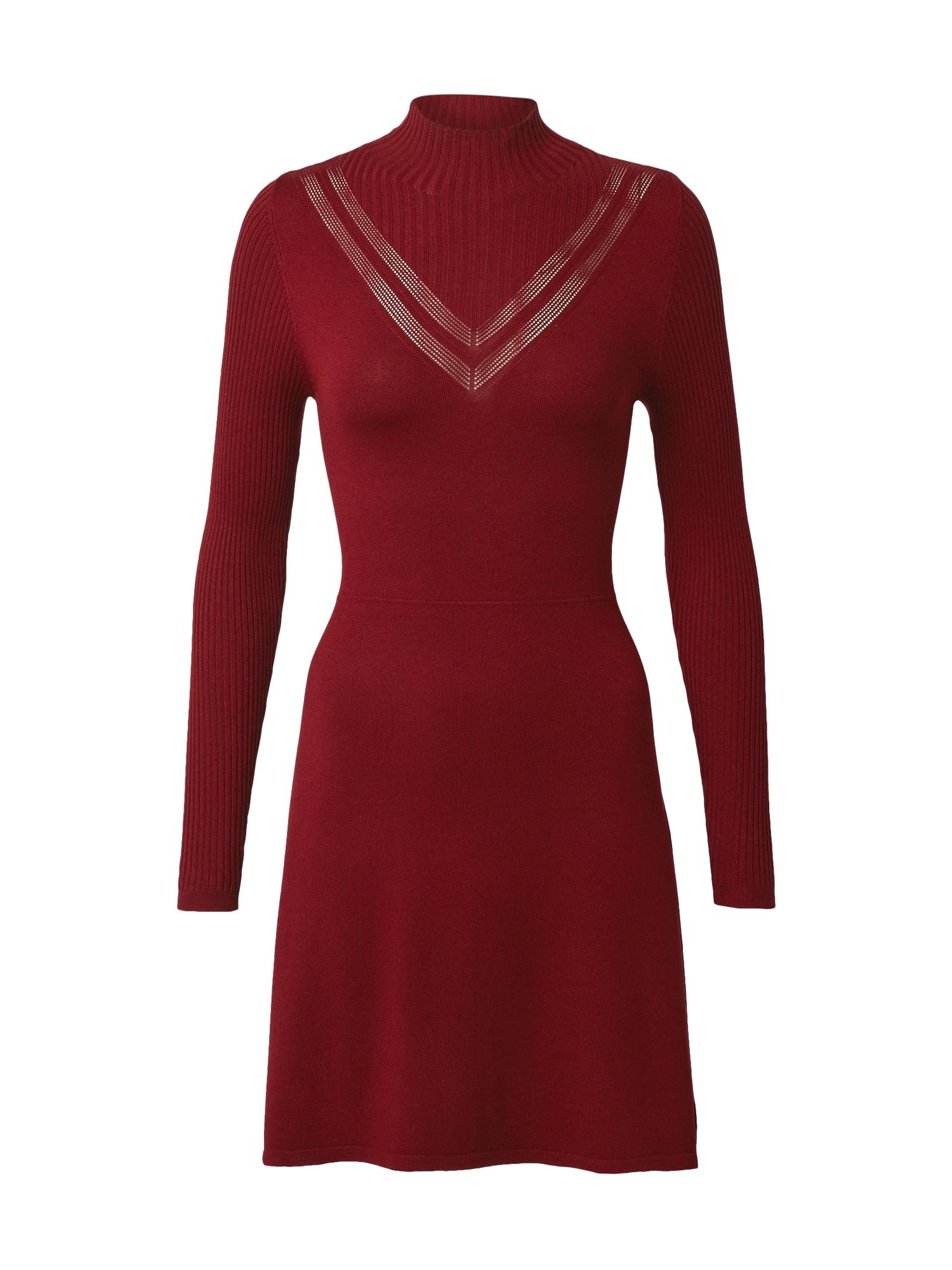 ONLY Úpletové šaty  rubínově červená