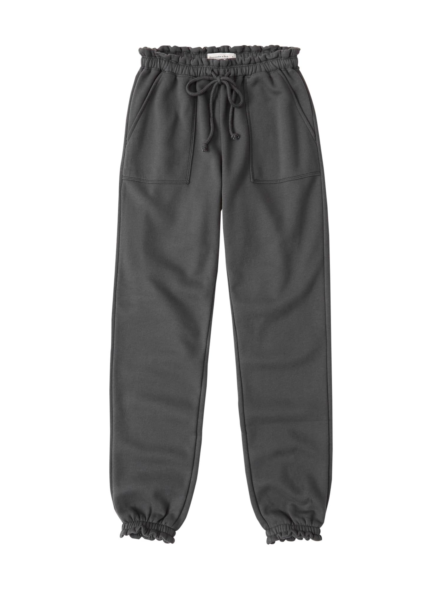 Abercrombie & Fitch Kelnės 'Webex Ruffle' pilka