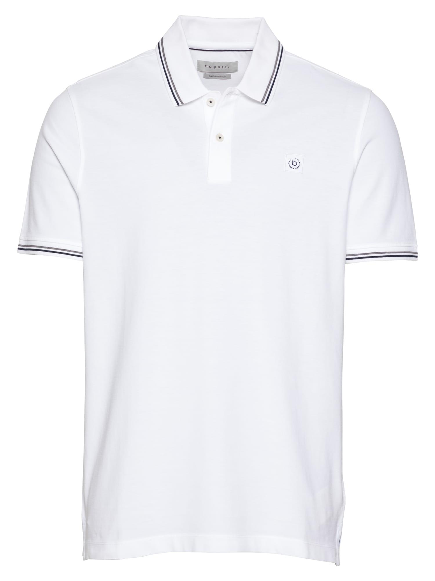 bugatti Marškinėliai balta / pilka / juoda
