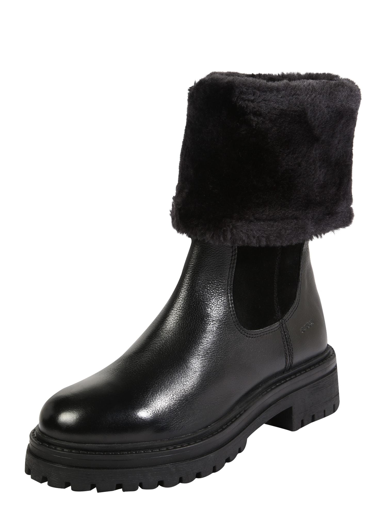 GEOX Auliniai batai su kulniuku 'IRIDEA' juoda