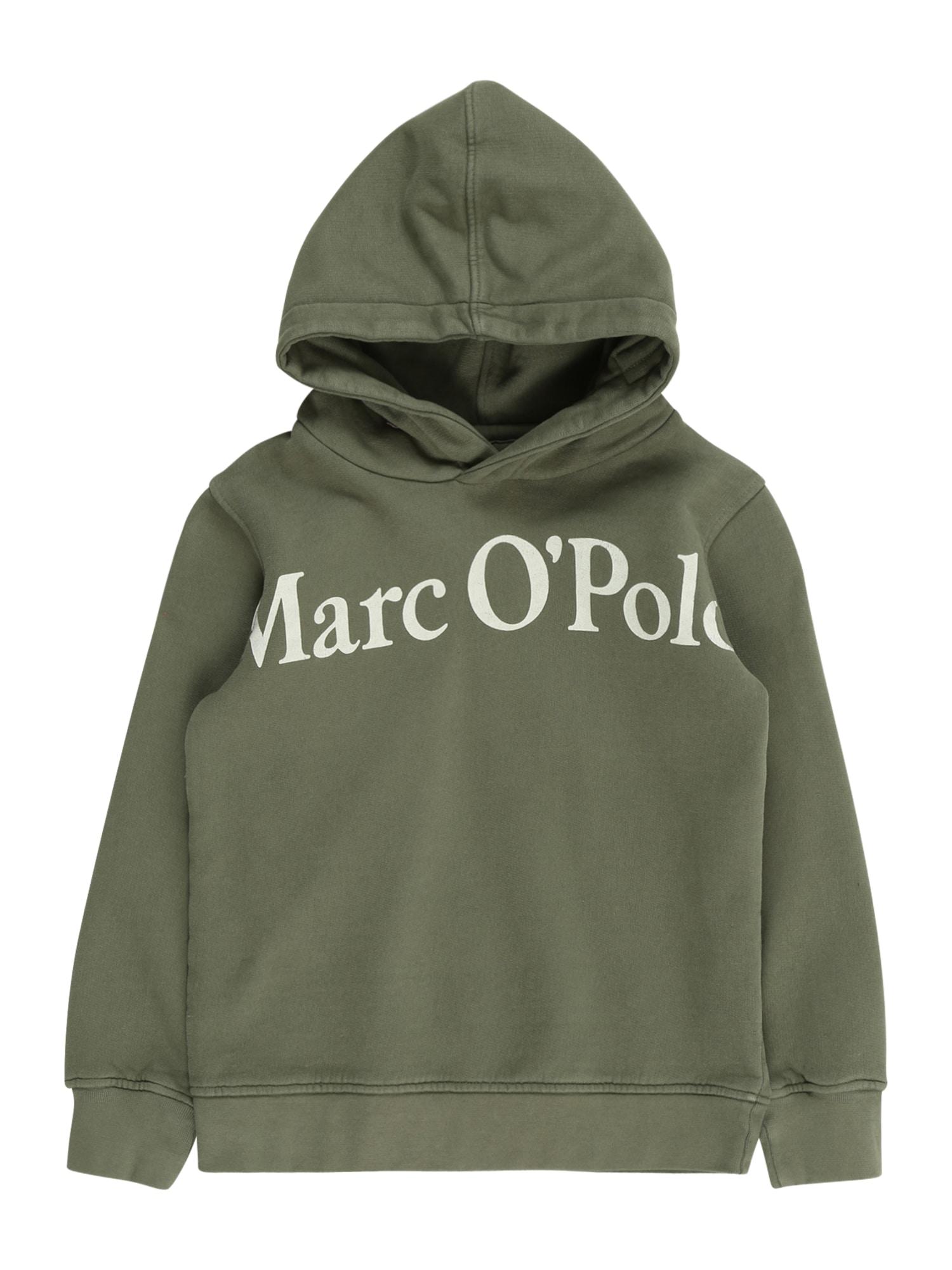 Marc O'Polo Junior Mikina  olivová / světle zelená
