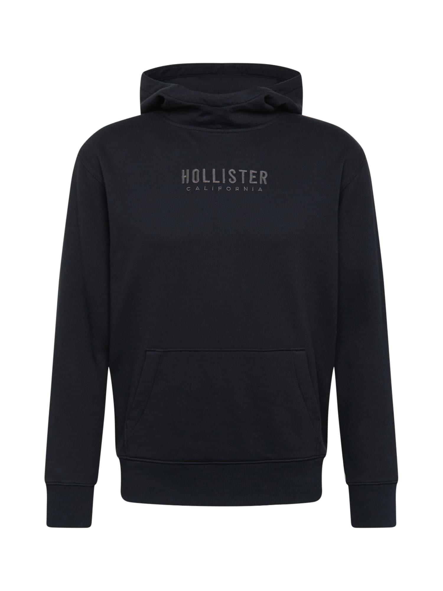 HOLLISTER Mikina  černá / tmavě šedá