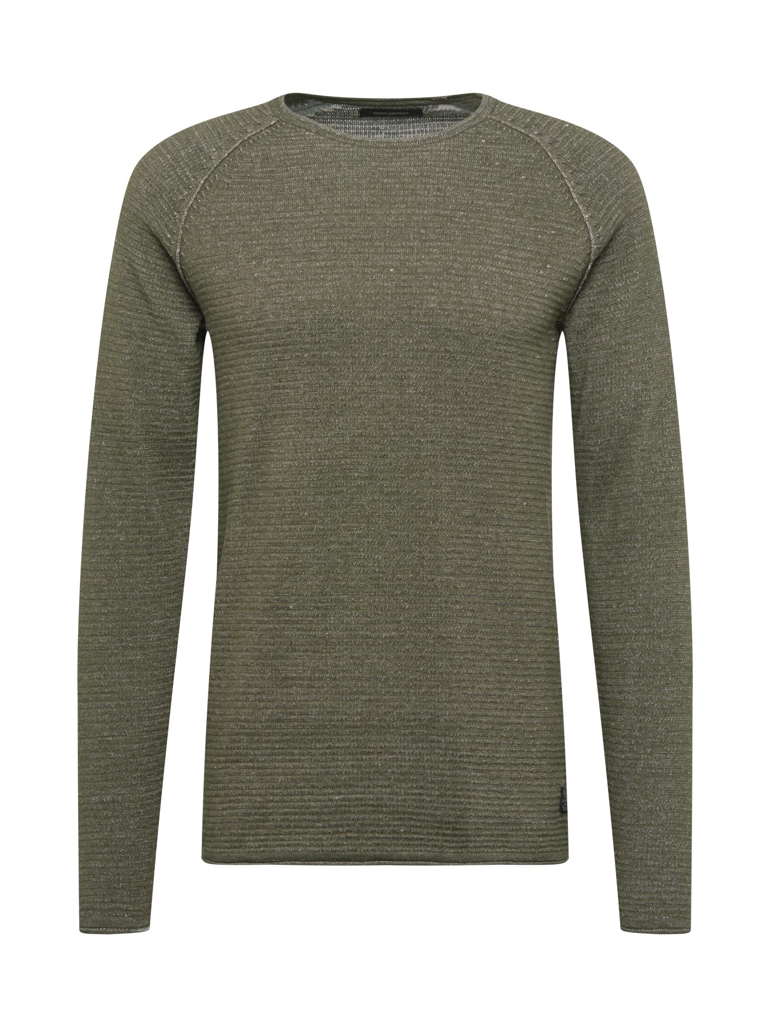SHINE ORIGINAL Megztinis rusvai žalia / balta