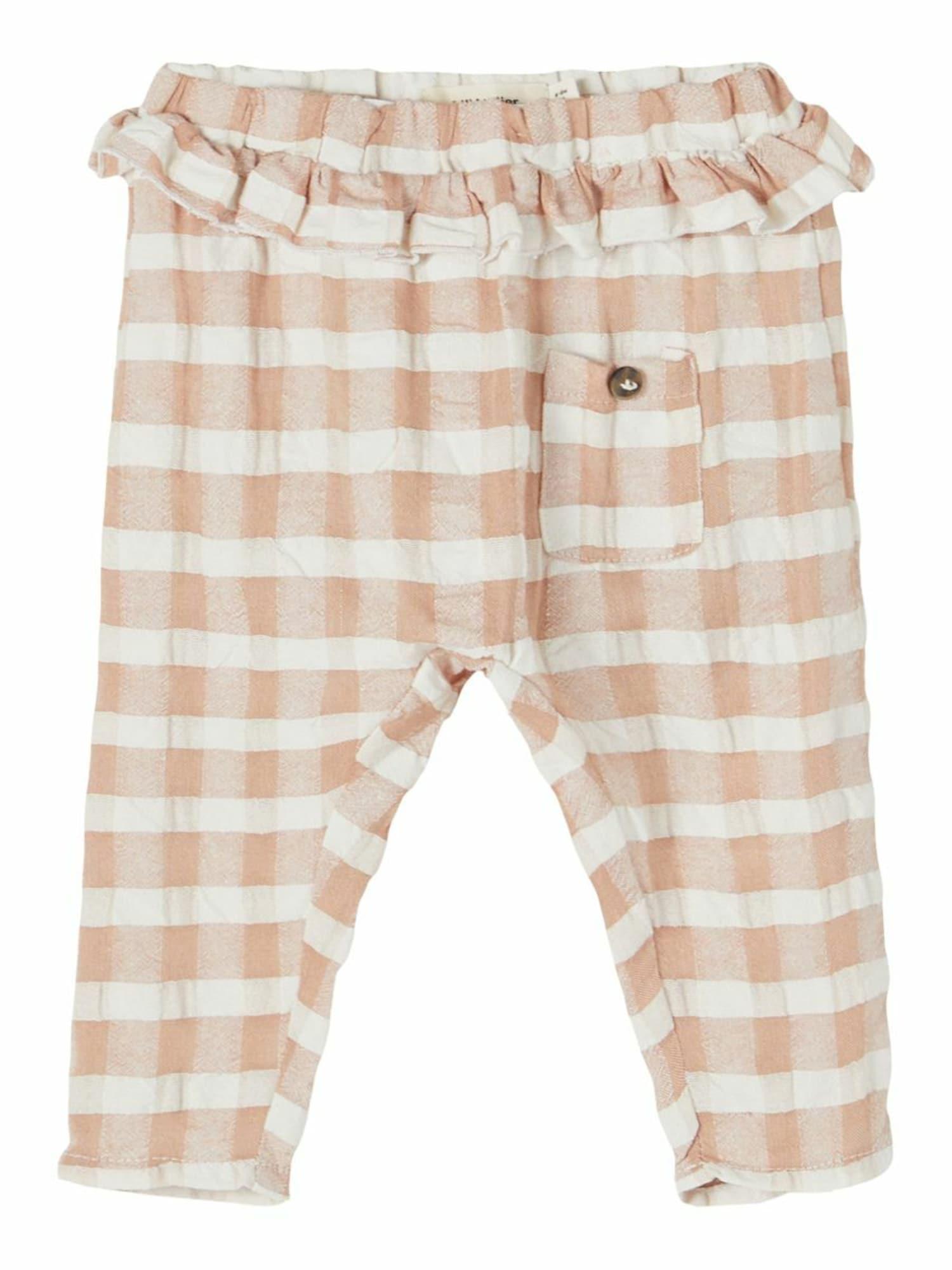 Lil ' Atelier Kids Kelnės 'Inga' balta / kūno spalva