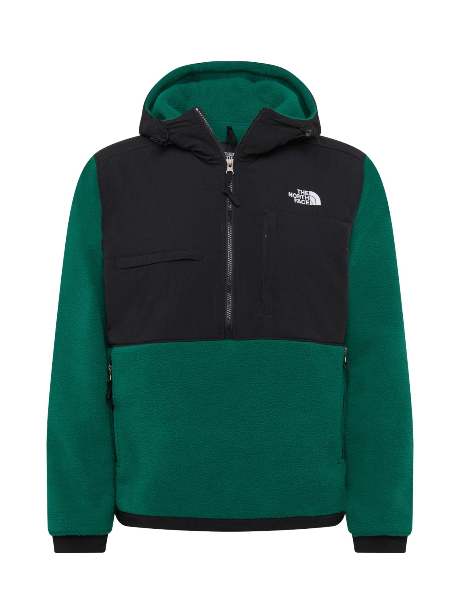 THE NORTH FACE Outdoorová bunda 'DENALI 2'  černá / zelená / bílá