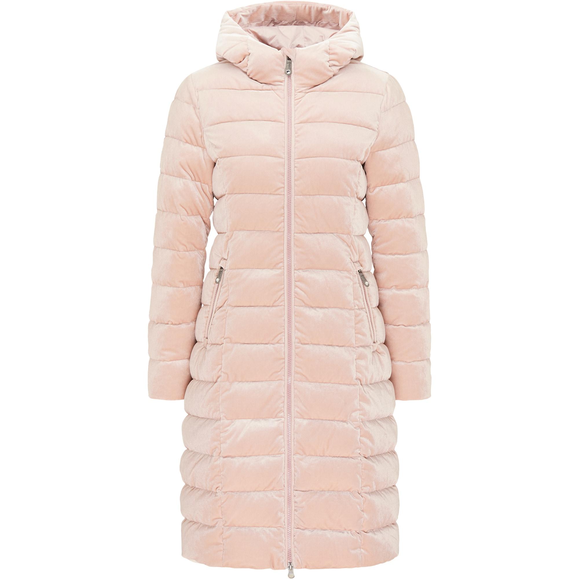 faina Žieminis paltas pudros spalva