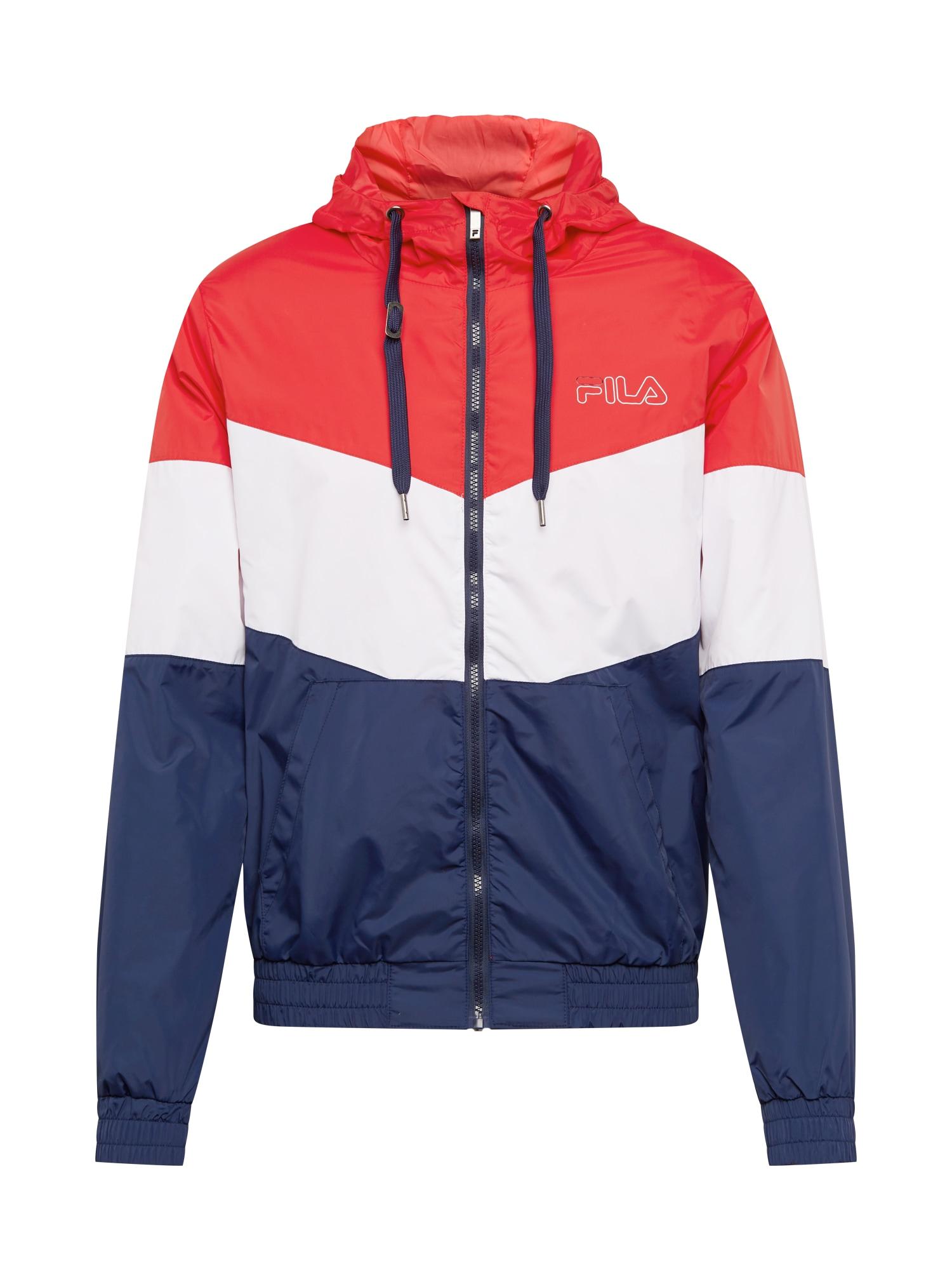 FILA Sportovní bunda 'LARRY'  námořnická modř / bílá / červená