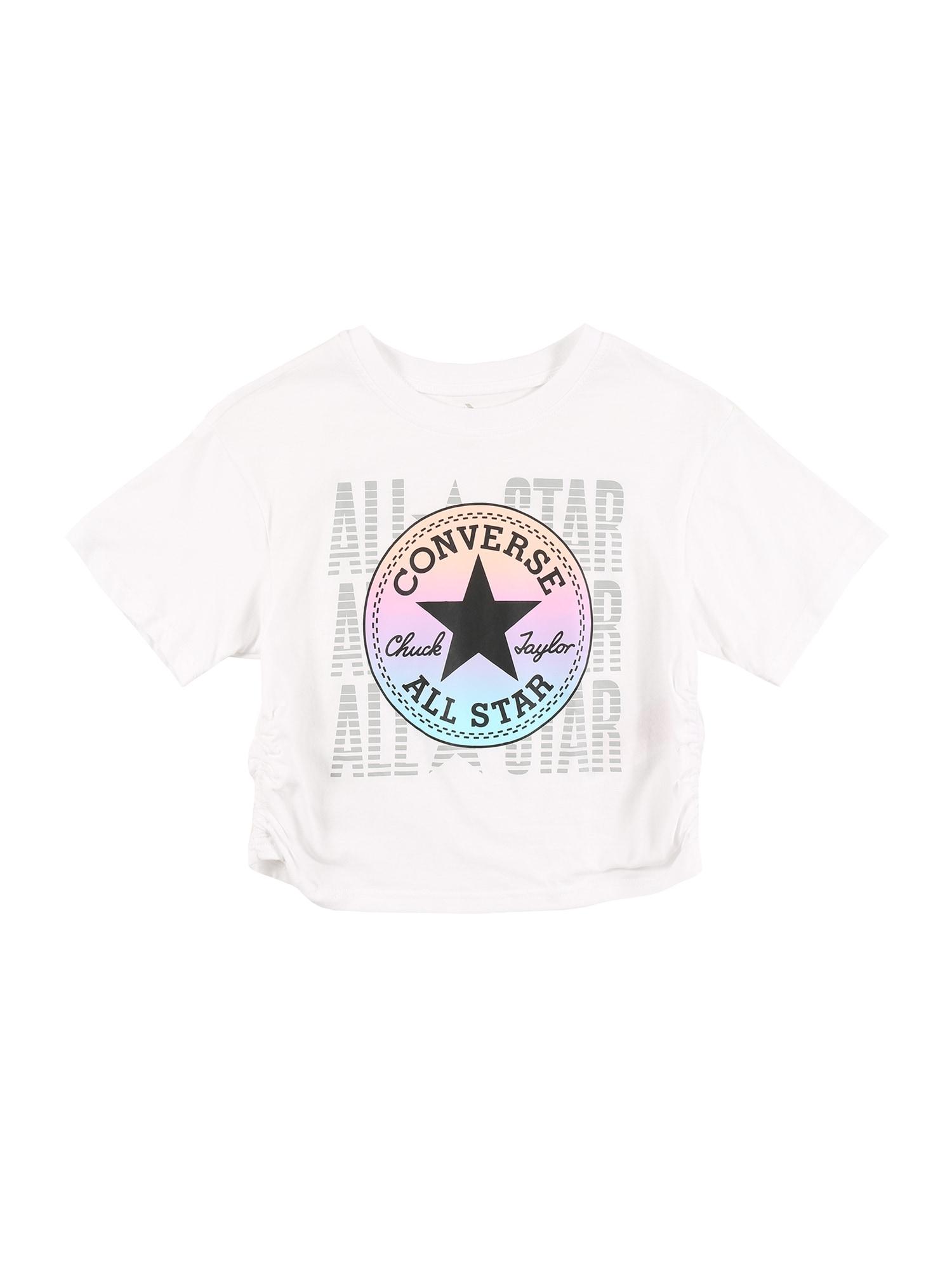 CONVERSE Marškinėliai balta / šviesiai pilka / mišrios spalvos