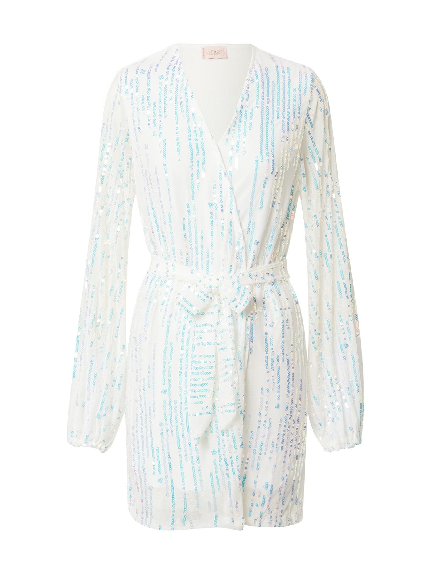 CLUB L LONDON Suknelė balta / turkio spalva