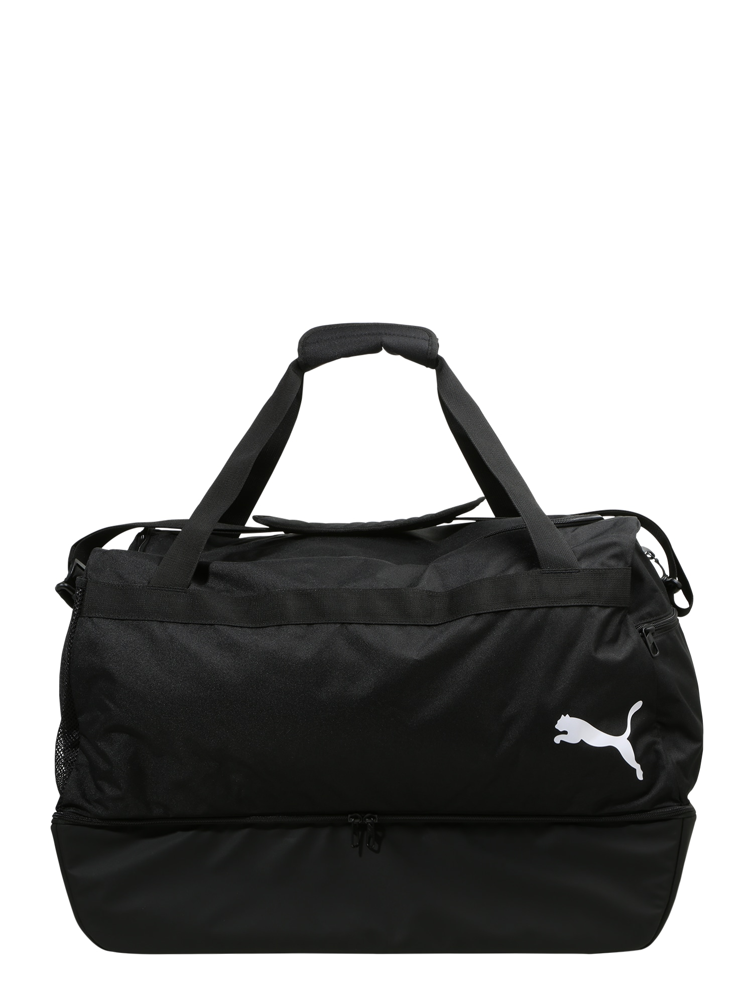PUMA Sportinis krepšys juoda / balta