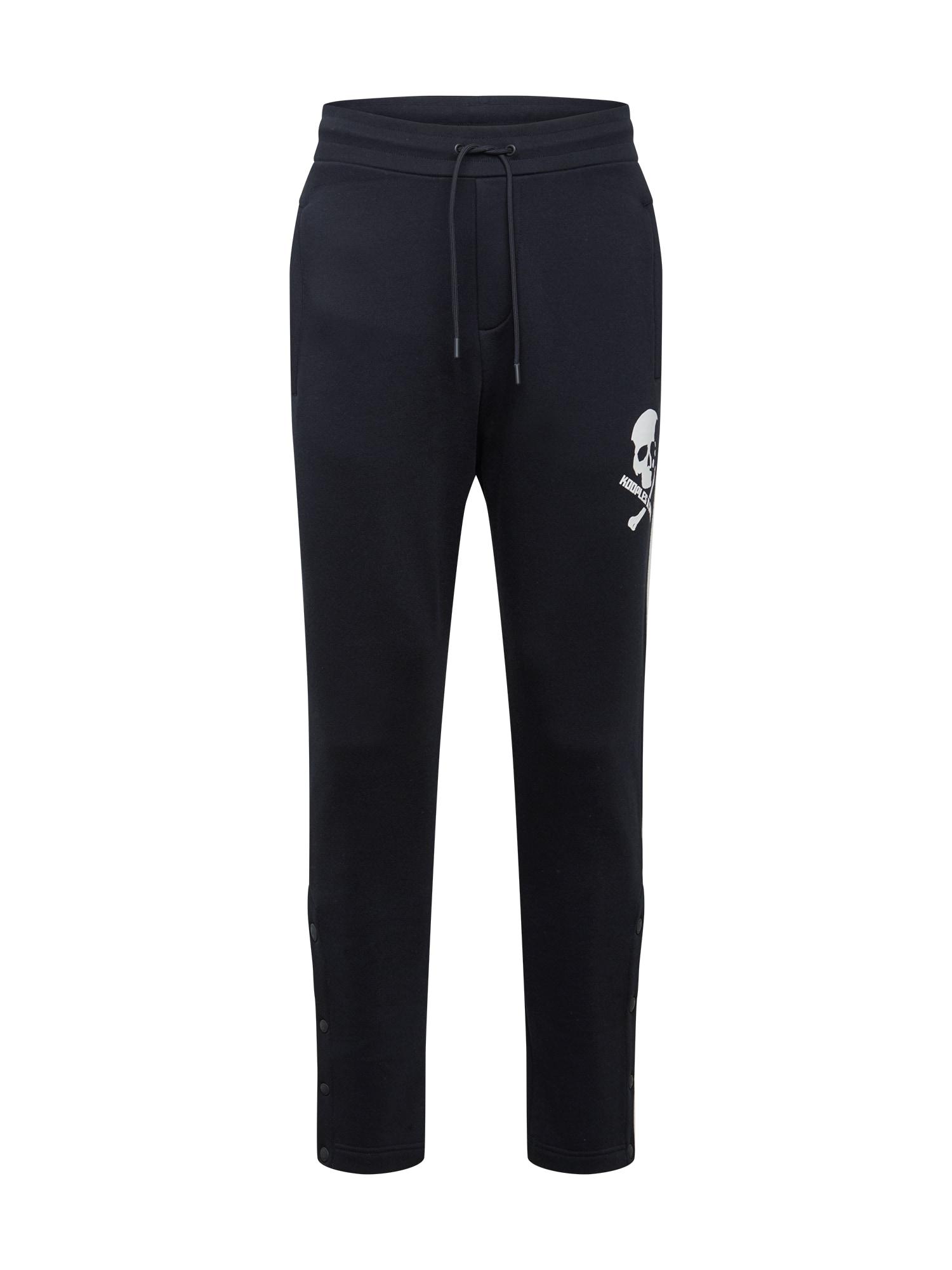 THE KOOPLES SPORT Kalhoty  černá / bílá