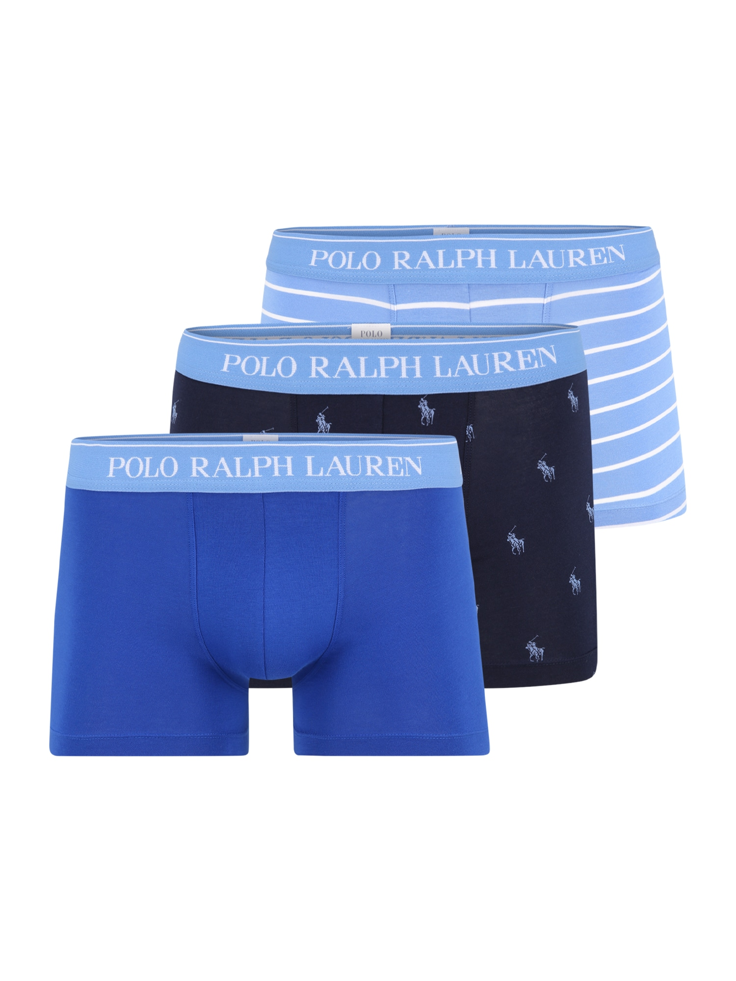 POLO RALPH LAUREN Boxer trumpikės mėlyna / balta / šviesiai mėlyna