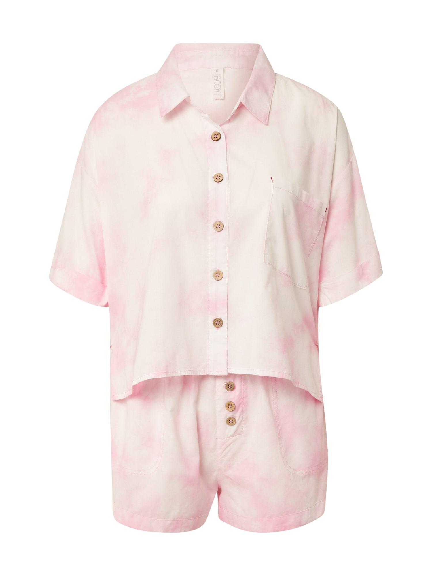 Cotton On Body Pižama su šortais pastelinė rožinė / balta
