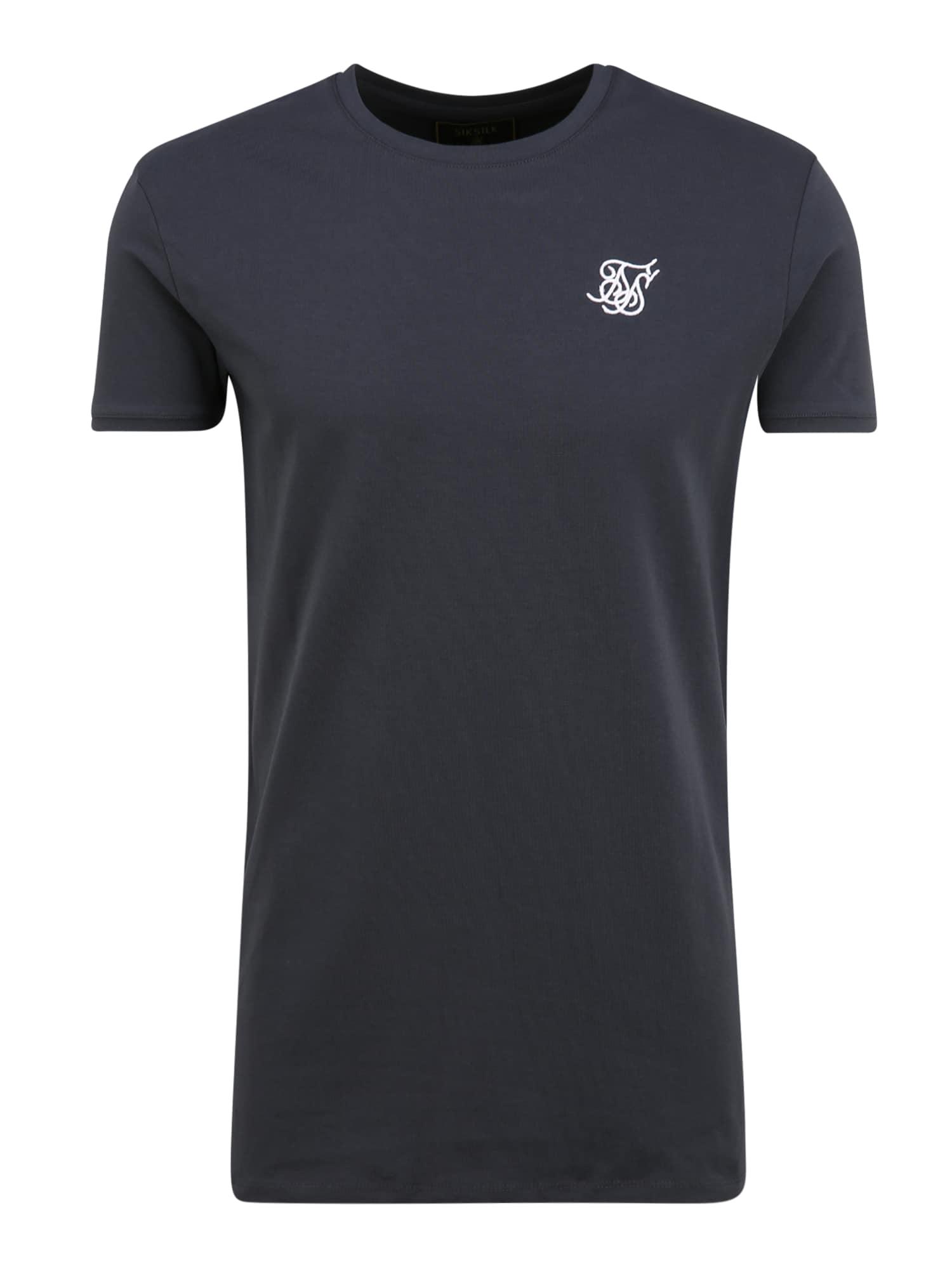 SikSilk Marškinėliai balta / kobalto mėlyna