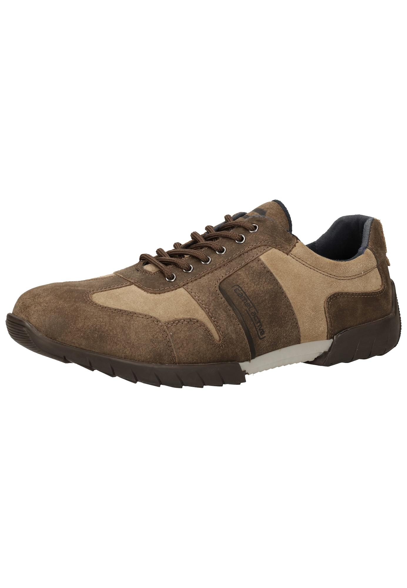 CAMEL ACTIVE Sportinio stiliaus batai su raišteliais smėlio / ruda