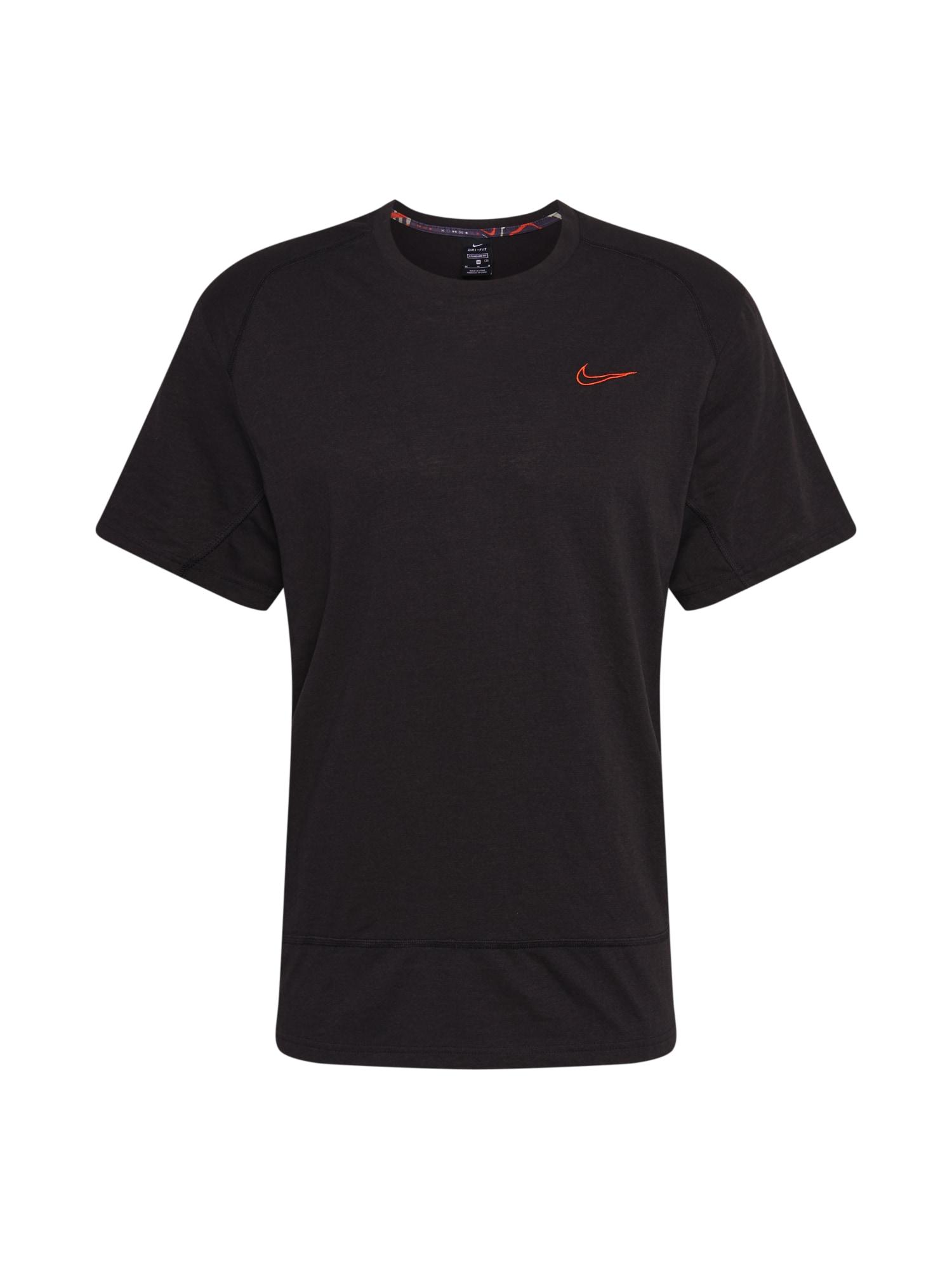 NIKE Funkční tričko  oranžová / černá