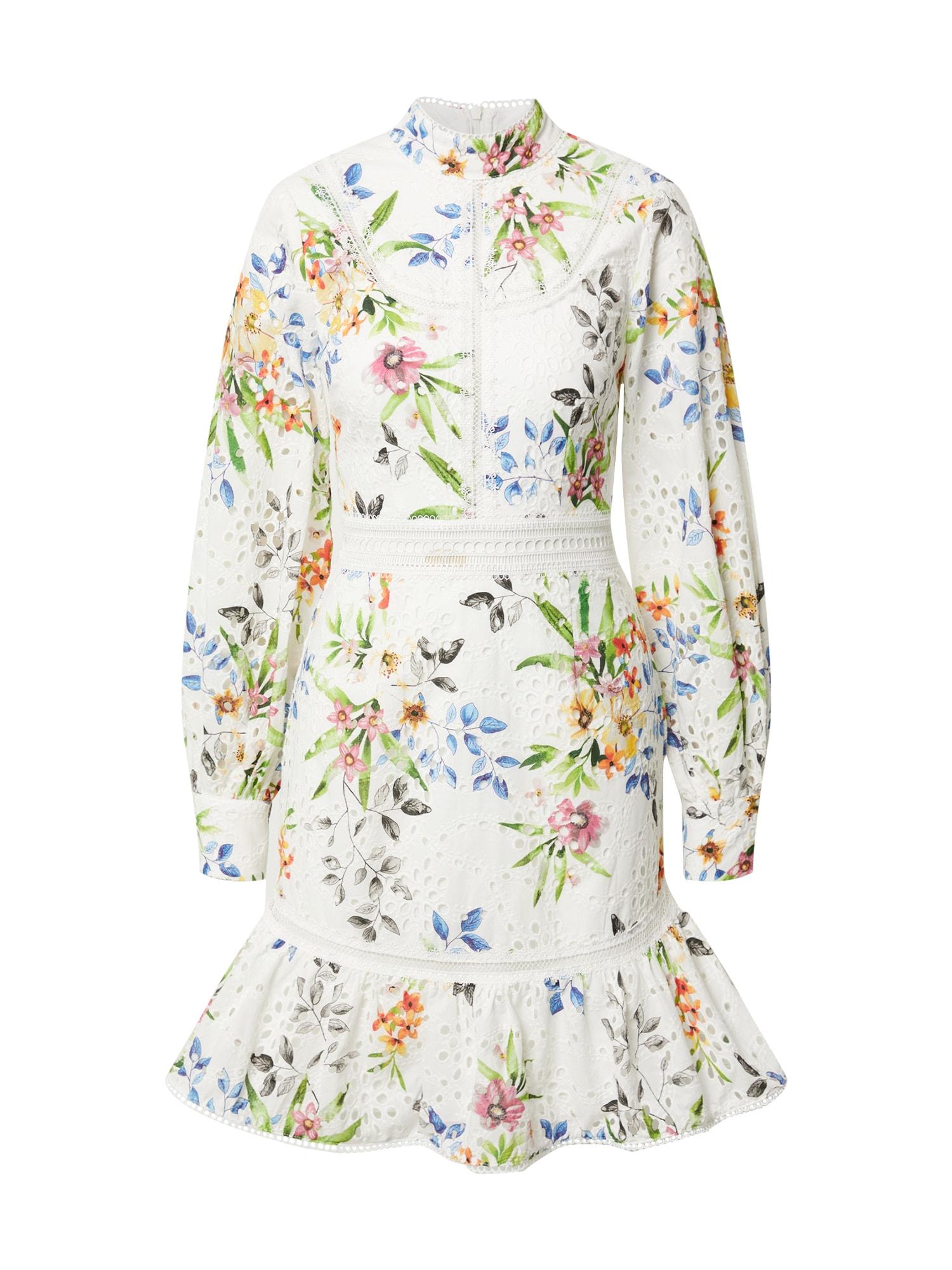 True Decadence Suknelė balta / mišrios spalvos