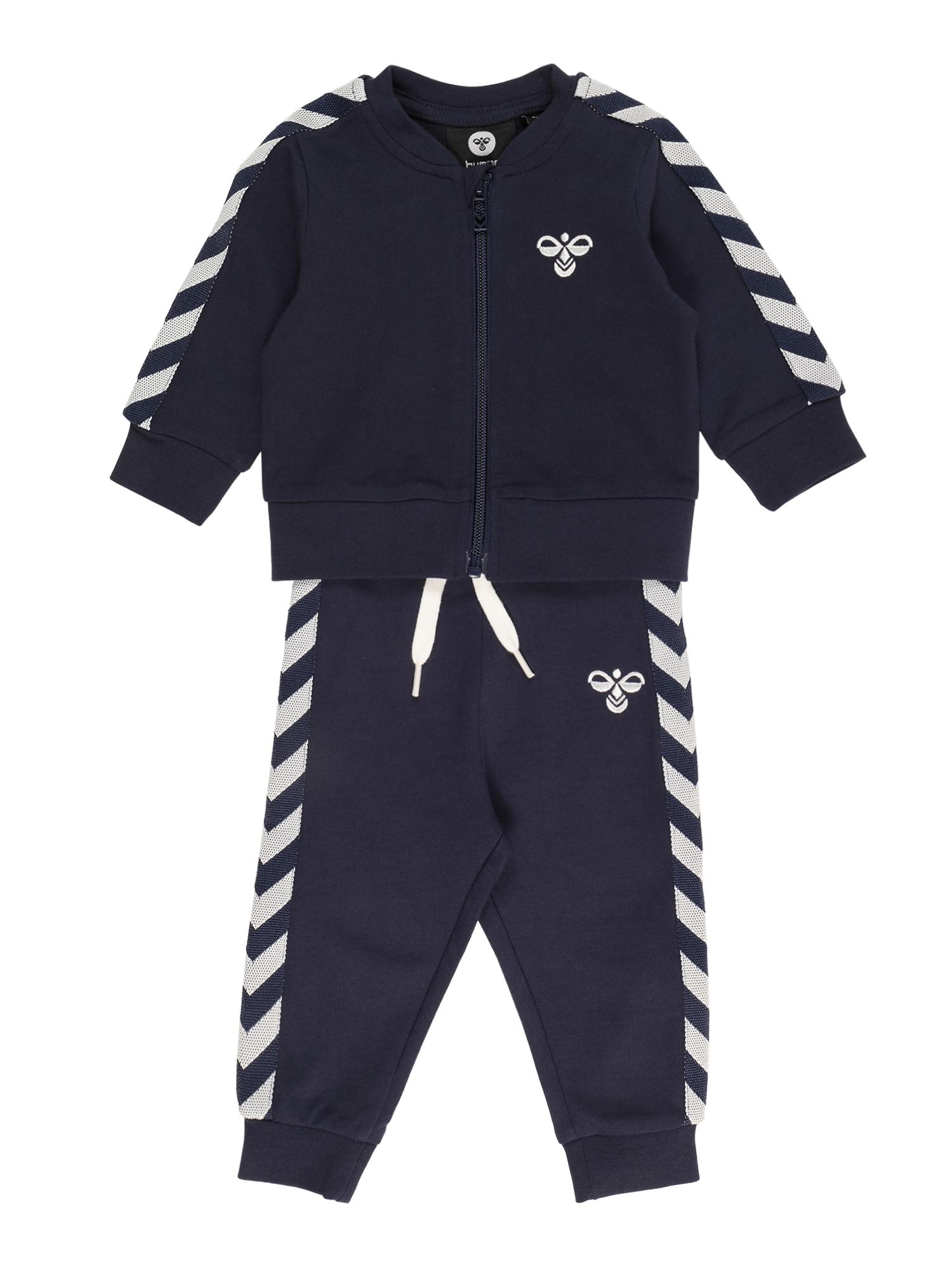 Hummel Treniruočių kostiumas juoda / balta