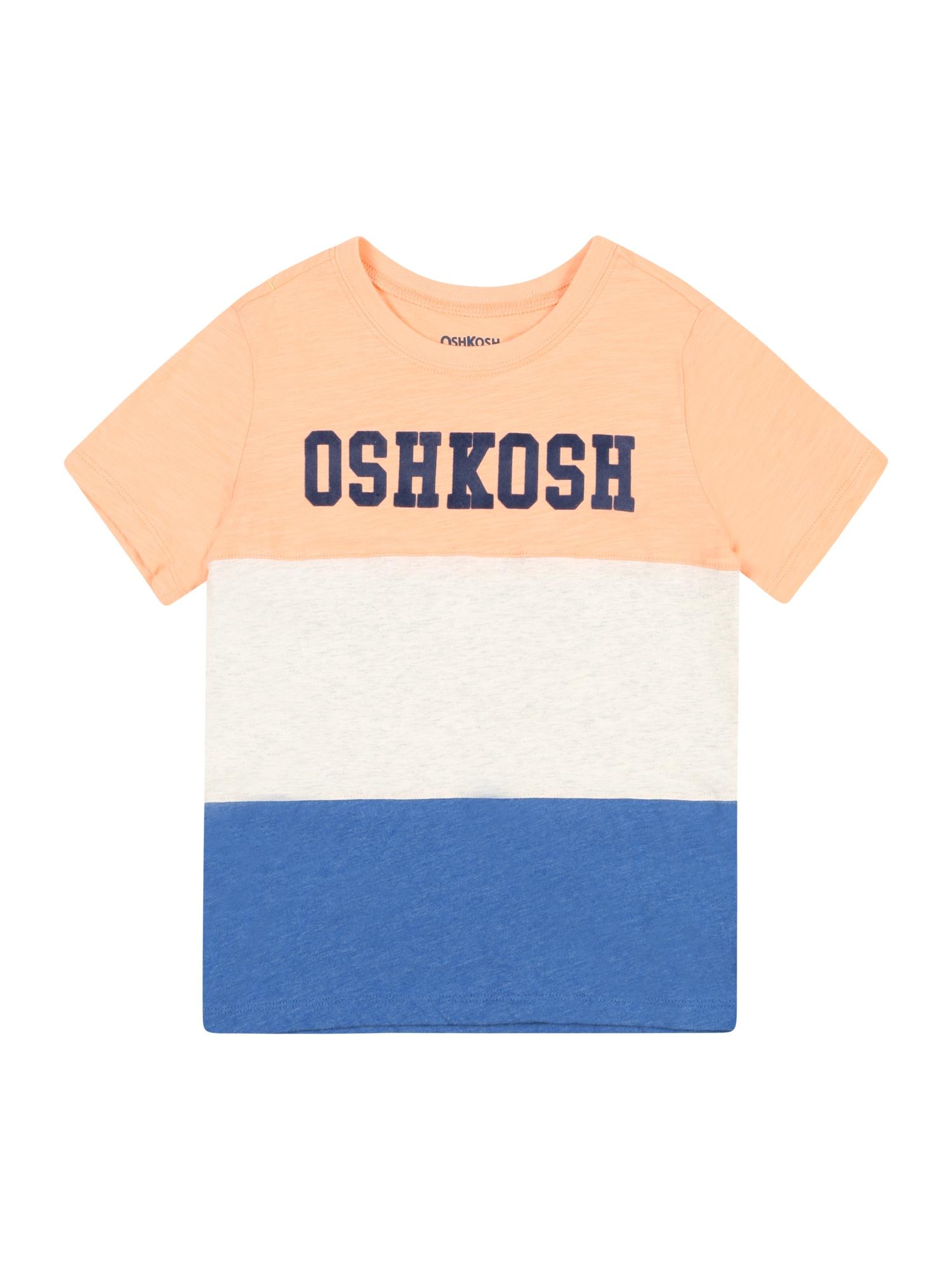 OshKosh Marškinėliai oranžinė / balta / mėlyna