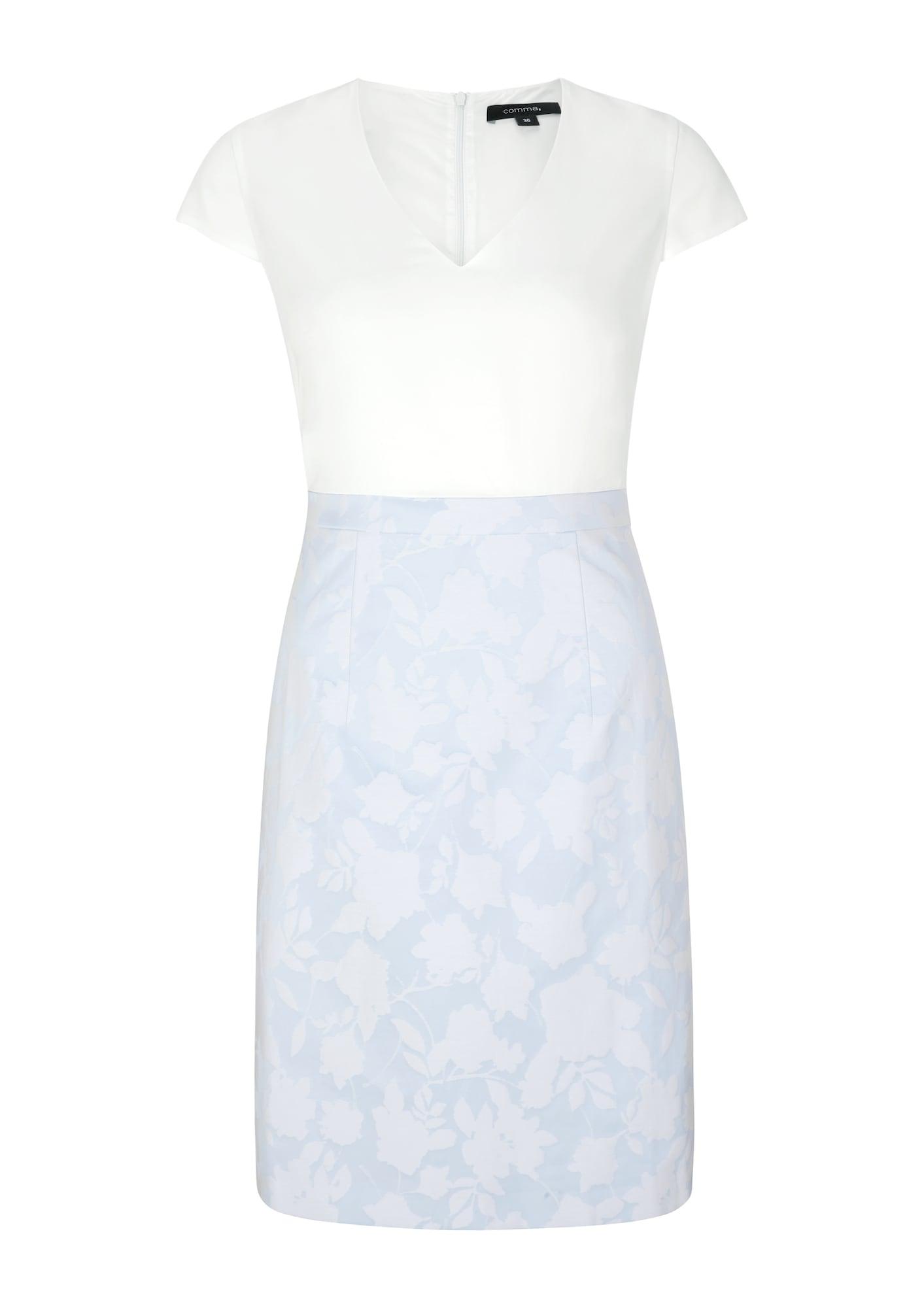 COMMA Trumpa kokteilinė suknelė balta / dangaus žydra
