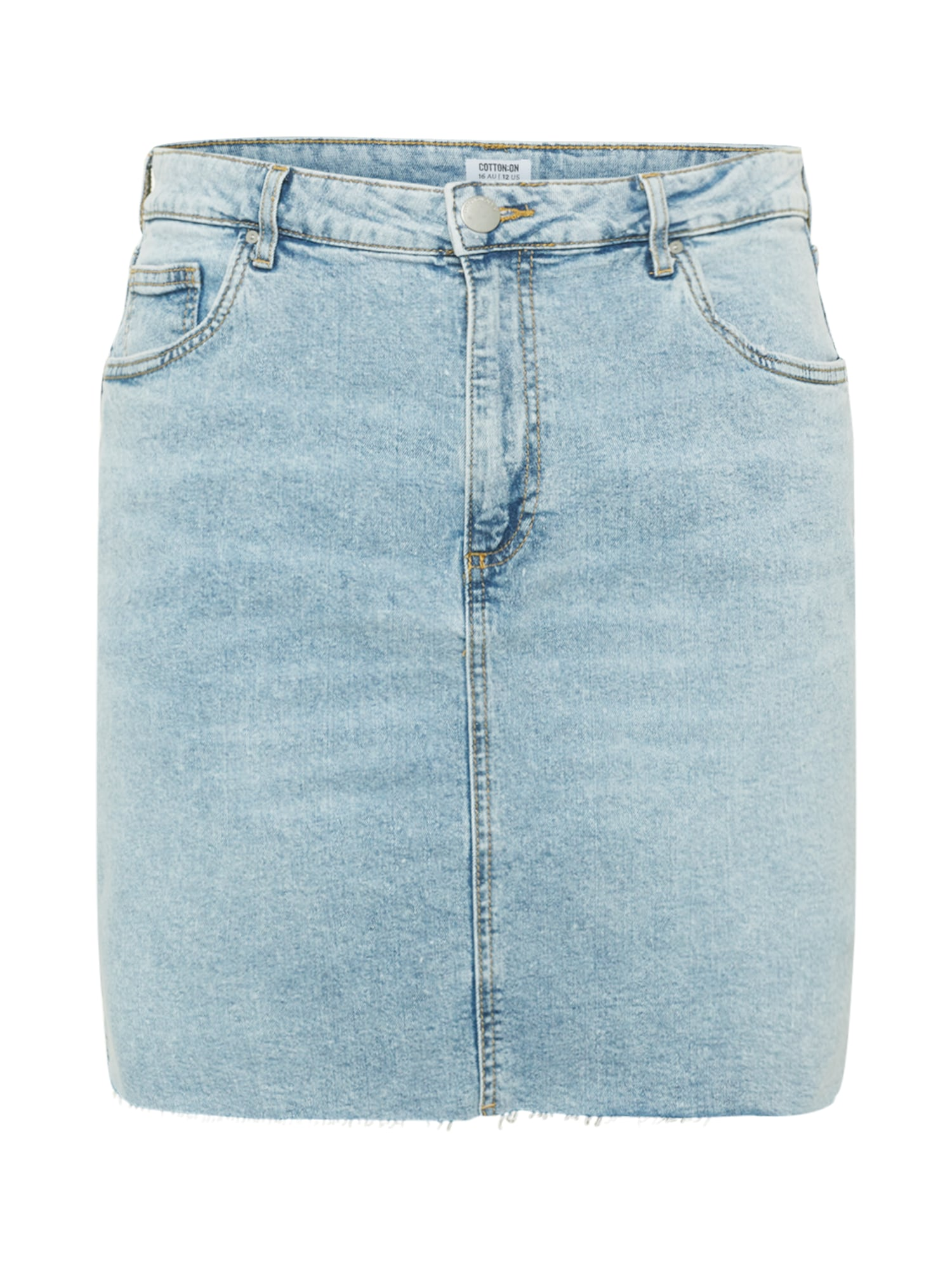 Cotton On Curve Sijonas tamsiai (džinso) mėlyna