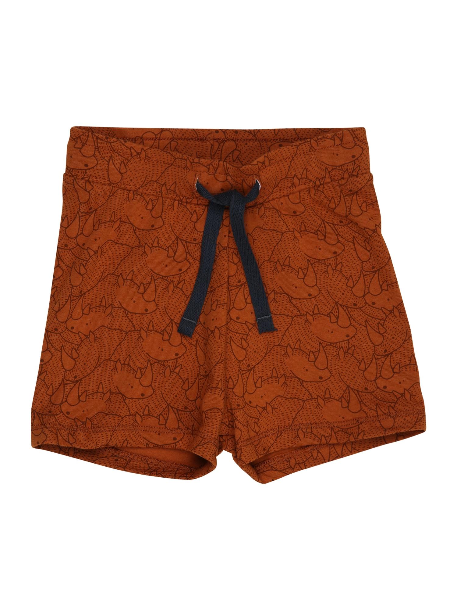 Müsli by GREEN COTTON Kelnės rusvai oranžinė / tamsiai ruda