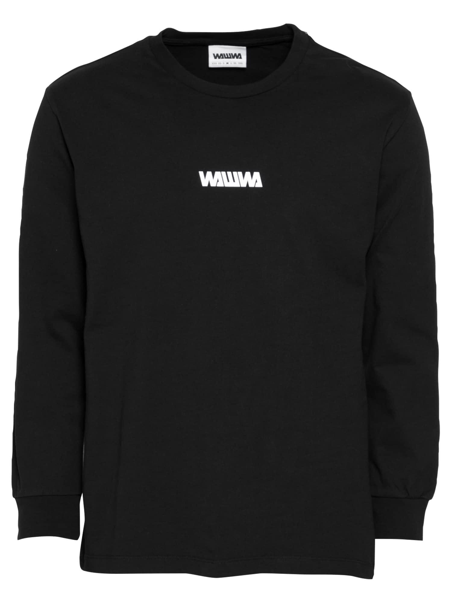 WAWWA Marškinėliai juoda / balta