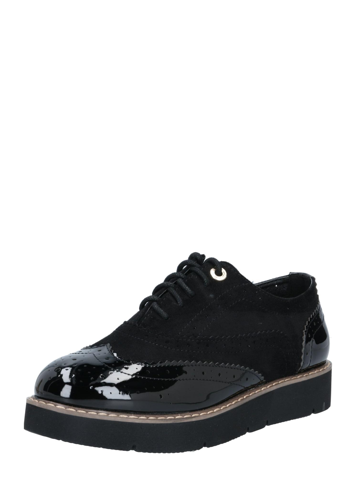 River Island Šněrovací boty  černá