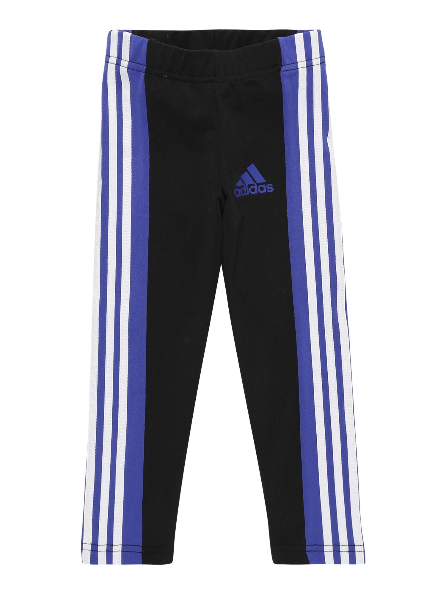 """ADIDAS PERFORMANCE Sportinės kelnės juoda / sodri mėlyna (""""karališka"""") / balta"""