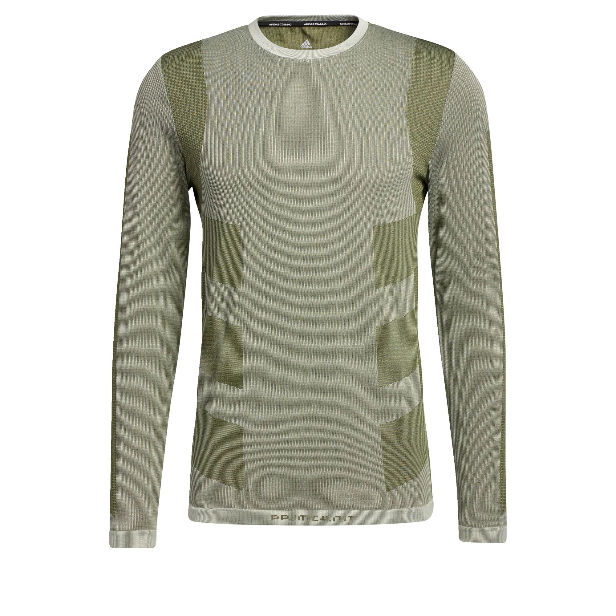 ADIDAS PERFORMANCE Sportiniai marškinėliai alyvuogių spalva / šviesiai žalia