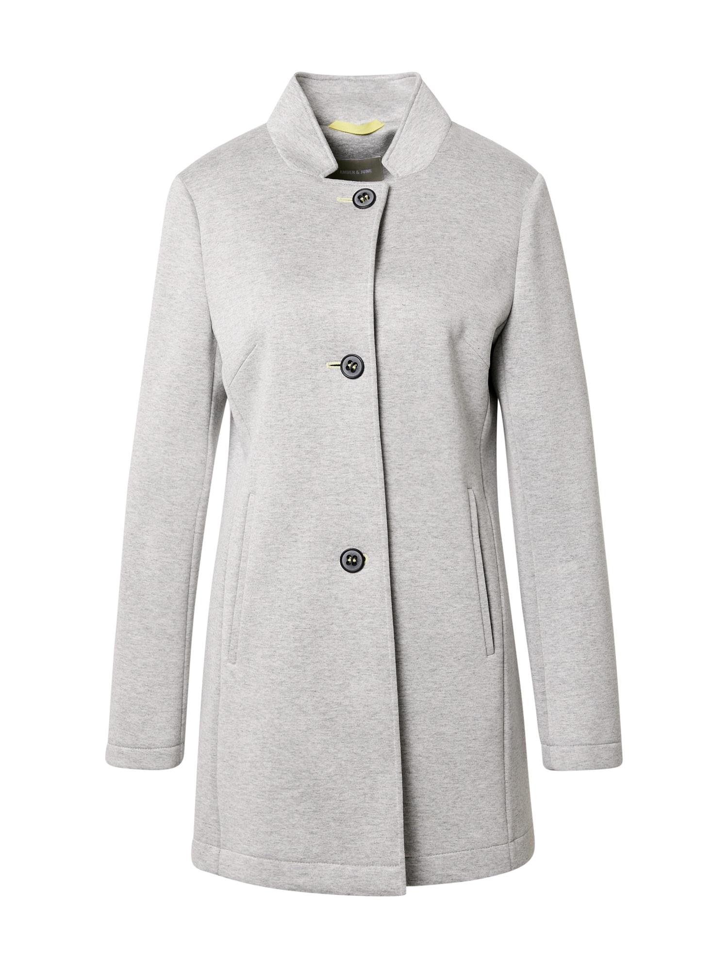 Amber & June Demisezoninis paltas margai pilka