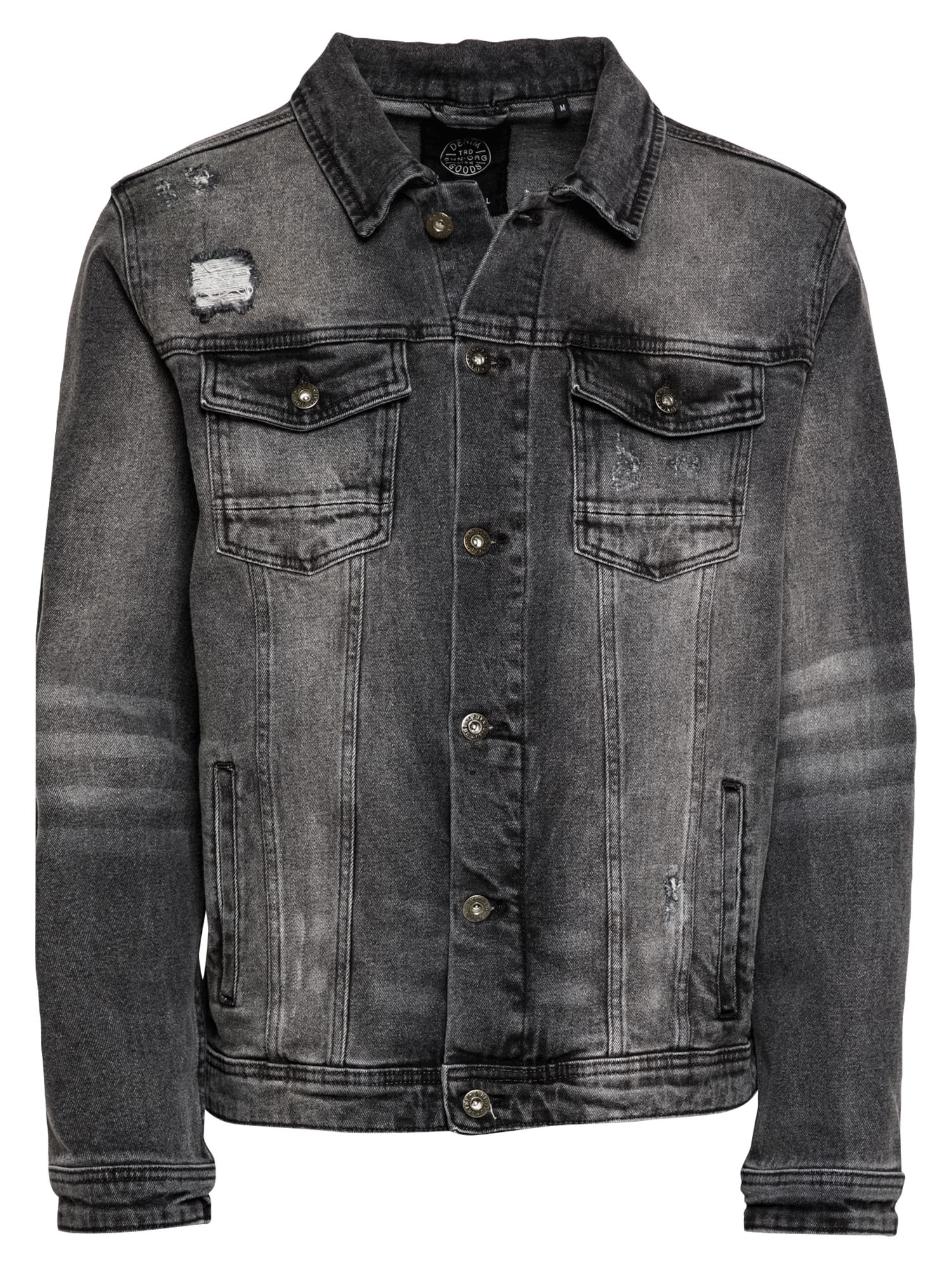 SHINE ORIGINAL Demisezoninė striukė pilko džinso