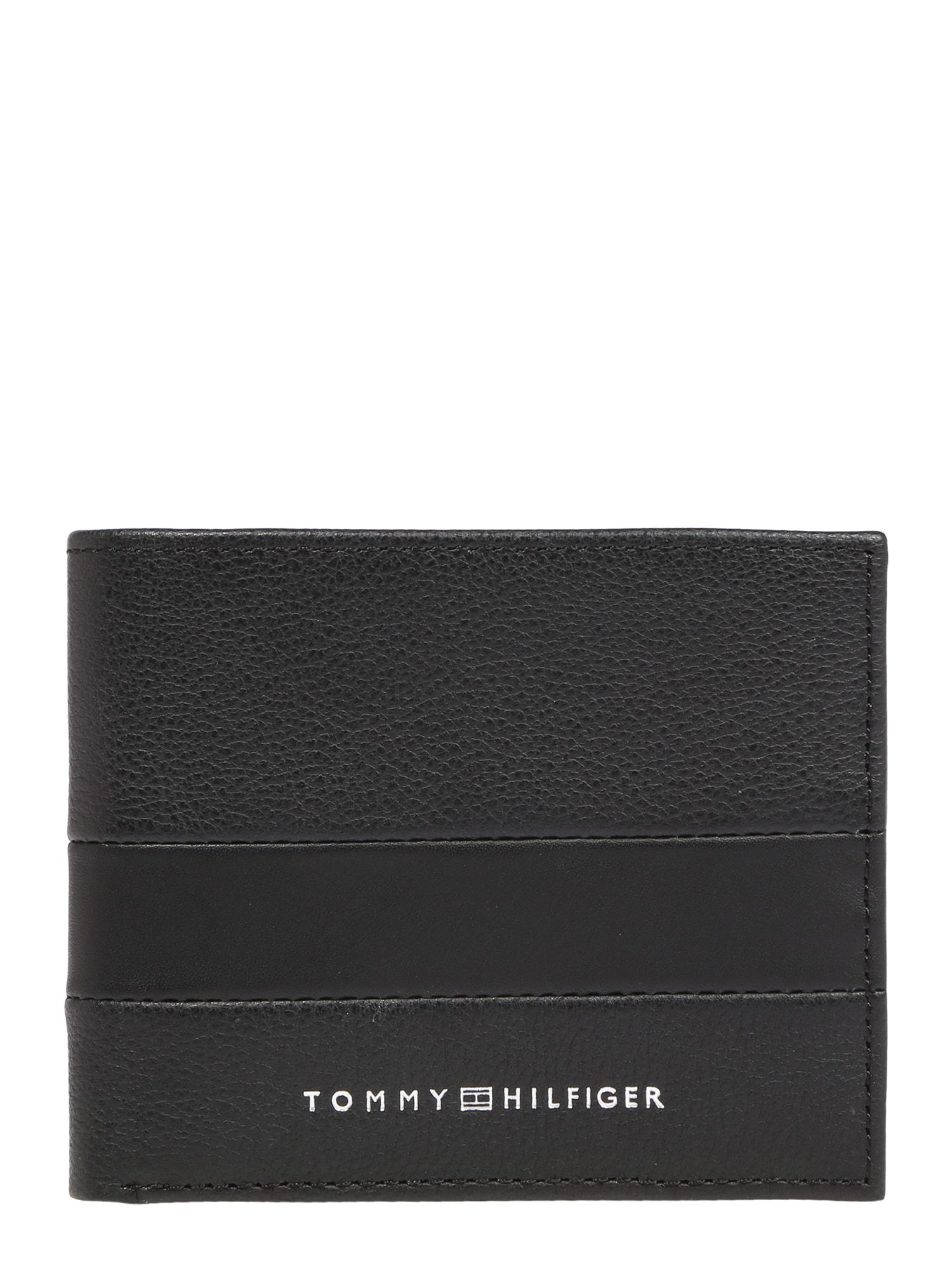 TOMMY HILFIGER Peněženka 'INTARSIA'  černá