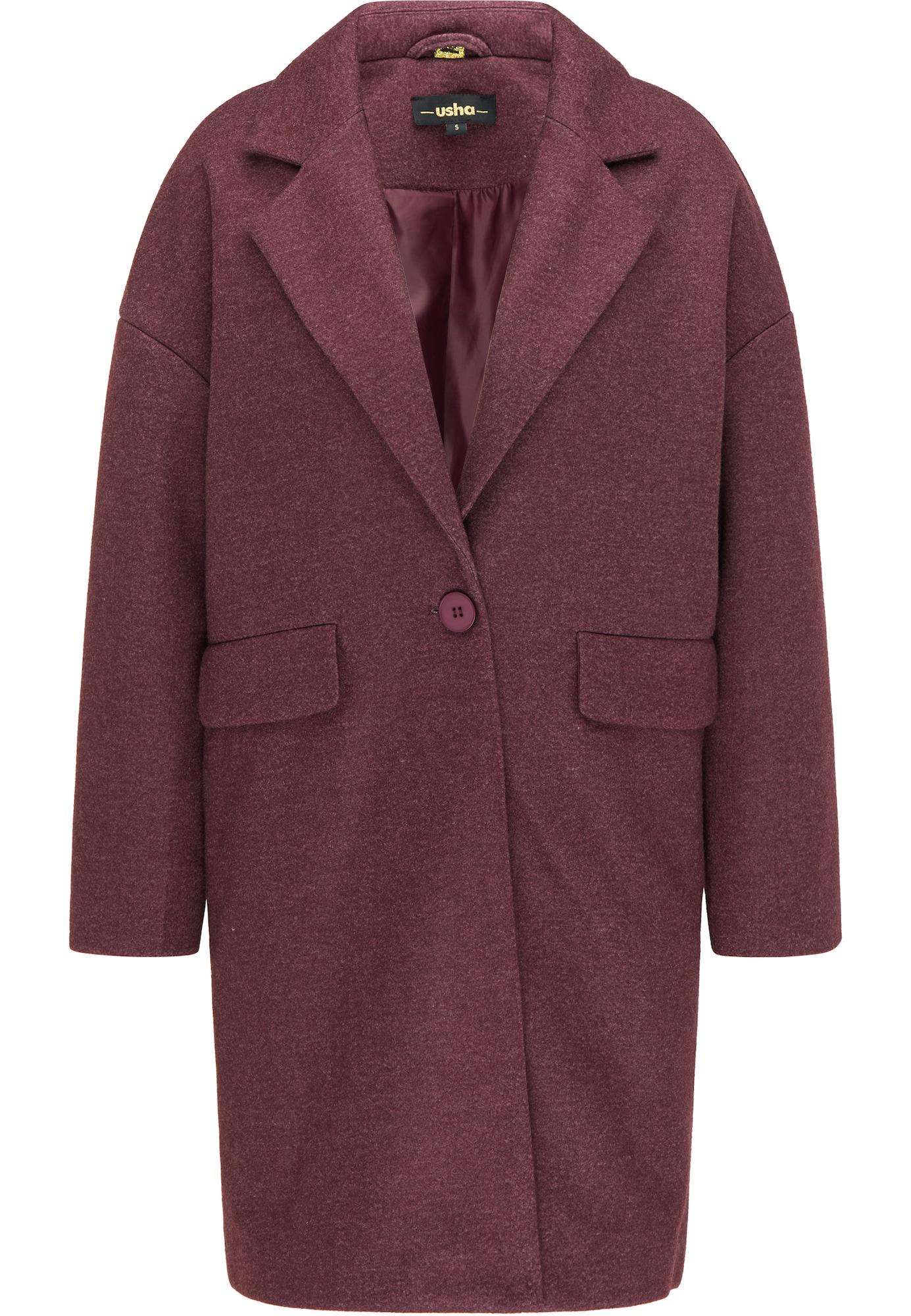usha BLACK LABEL Demisezoninis paltas raudonai violetinė