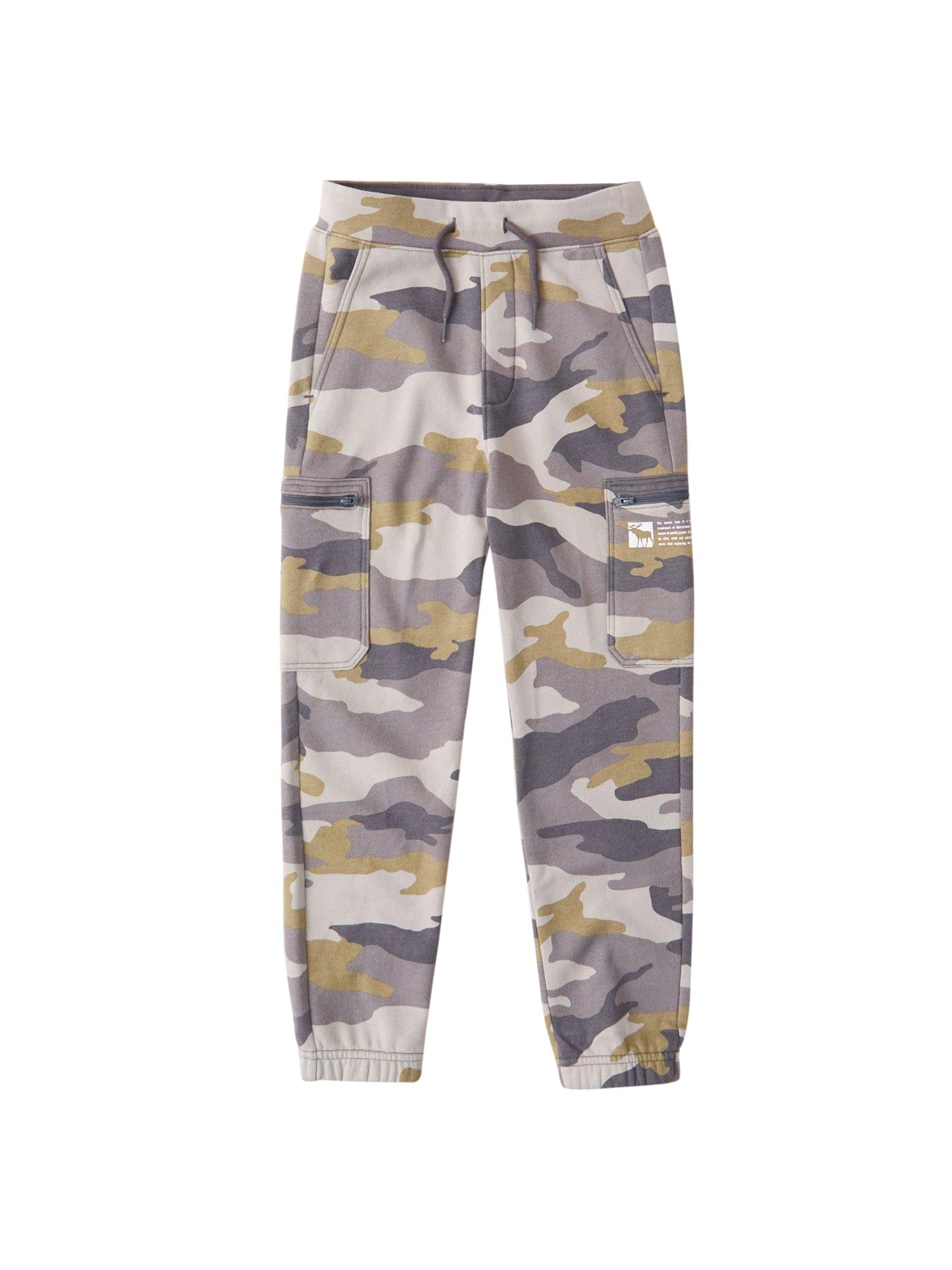 Abercrombie & Fitch Kelnės rusvai žalia / pilka / šviesiai pilka