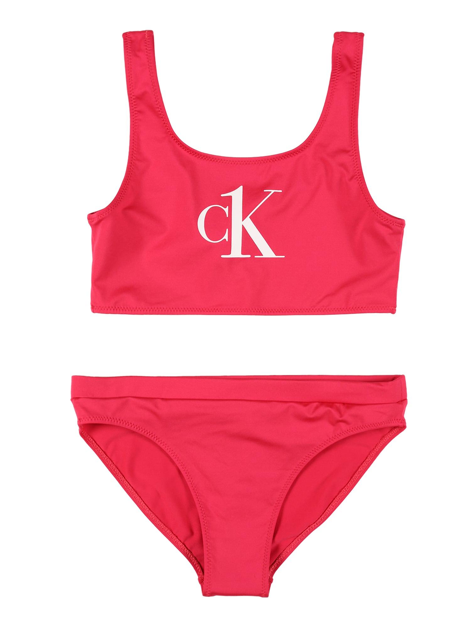 Calvin Klein Swimwear Bikinis rožinė / balta