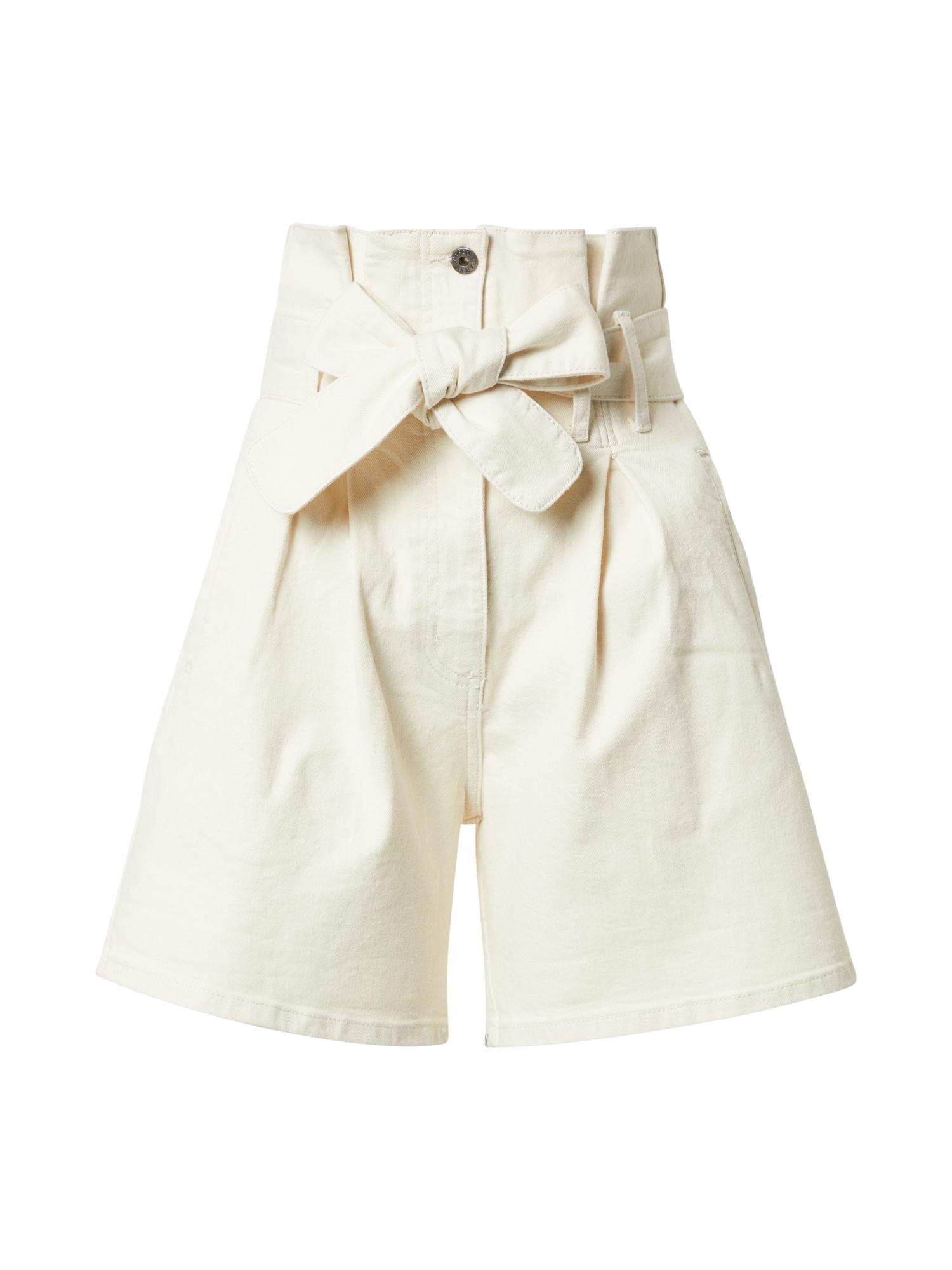 Bardot Džinsai su kantu balto džinso spalva