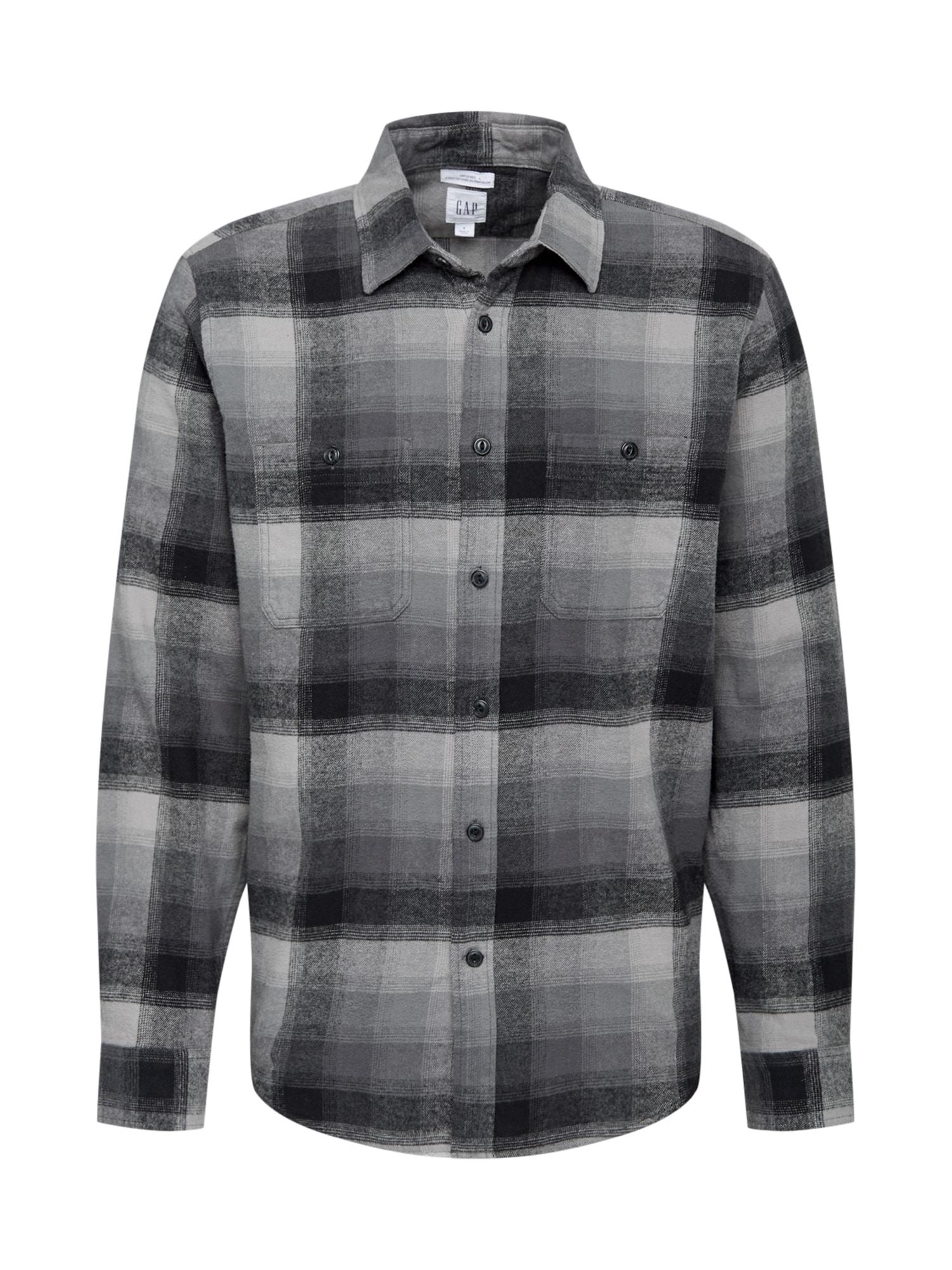 GAP Košile  černá / šedá