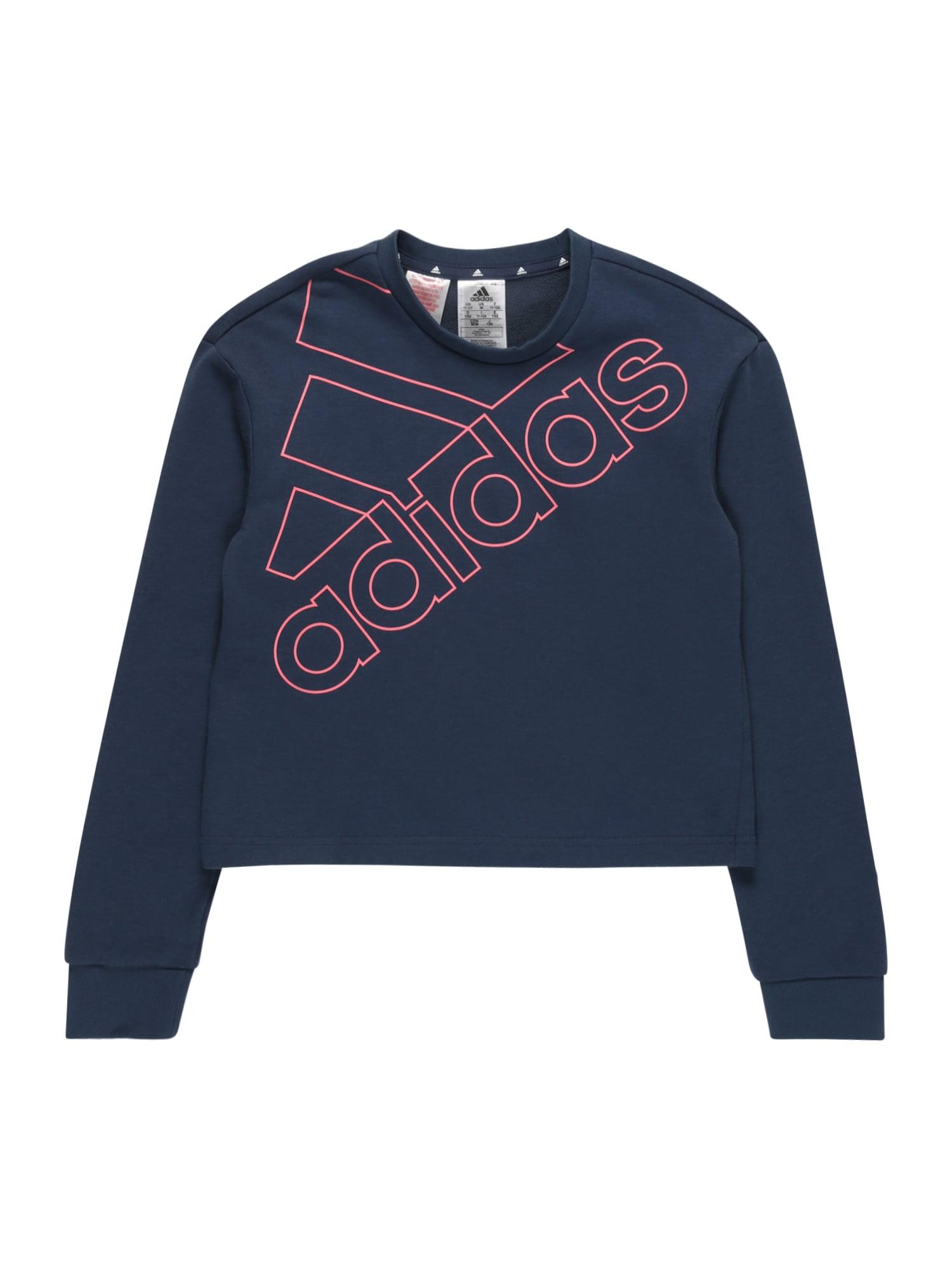 ADIDAS PERFORMANCE Sportinio tipo megztinis tamsiai mėlyna / rožinė