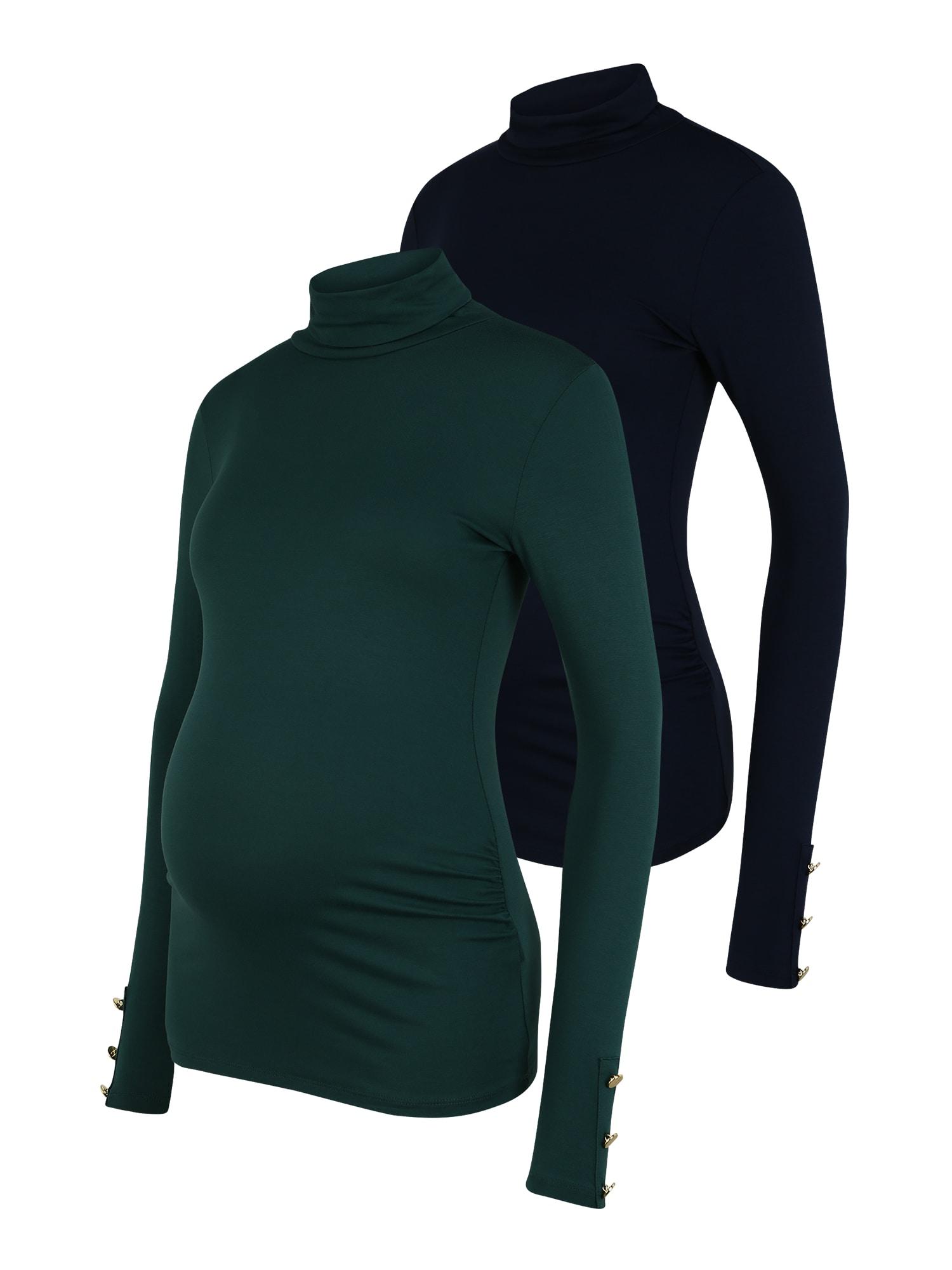 Dorothy Perkins Maternity Marškinėliai tamsiai mėlyna / žalia