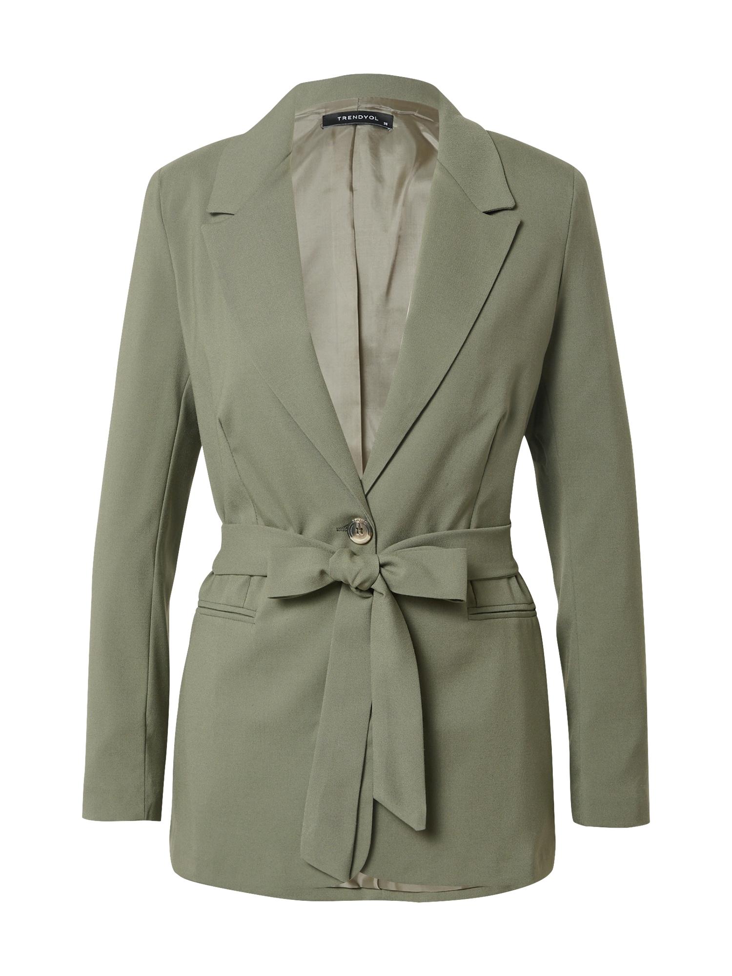 Trendyol Demisezoninis paltas žalia