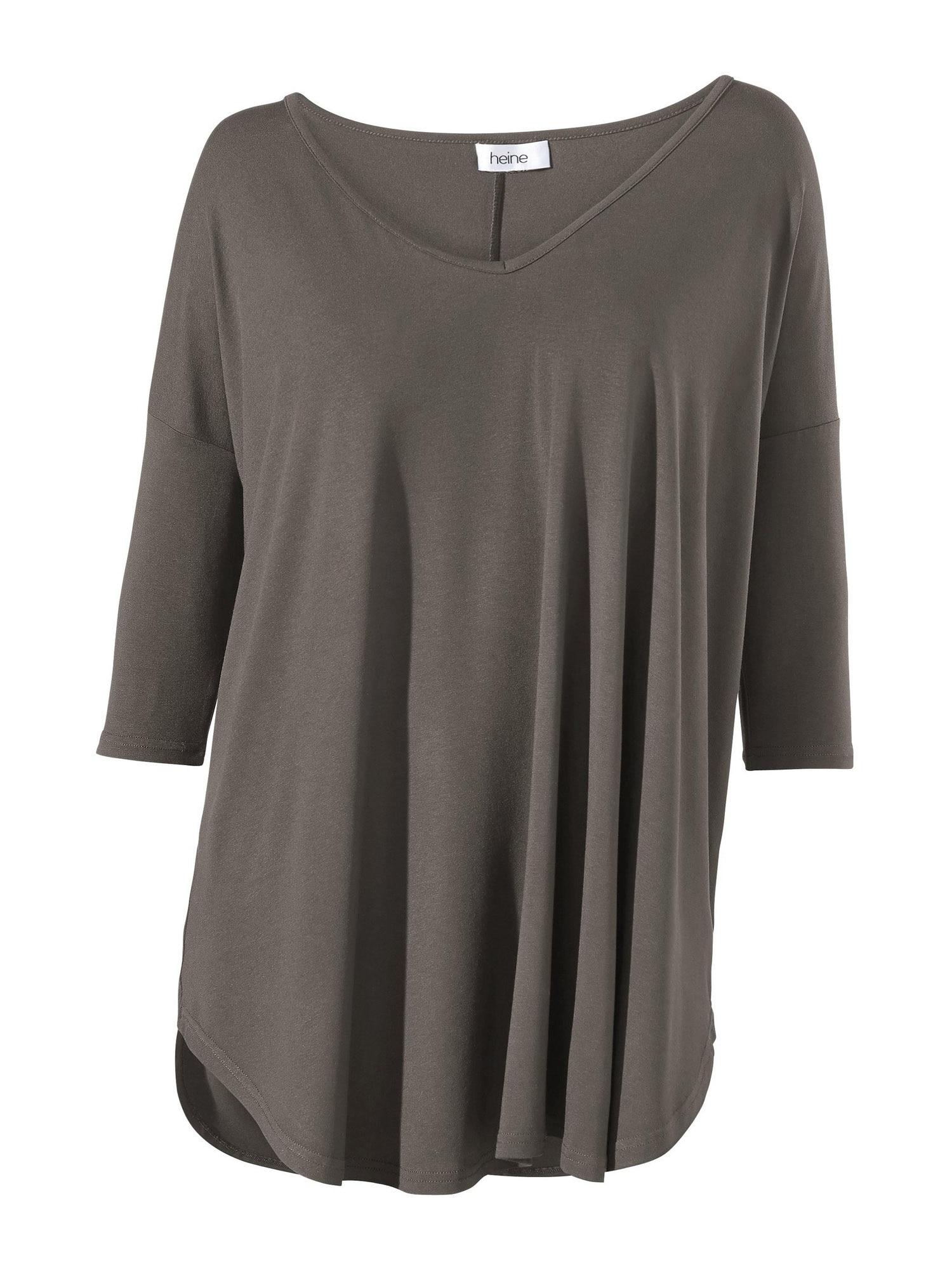 Linea Tesini by heine Laisvi marškinėliai rausvai pilka