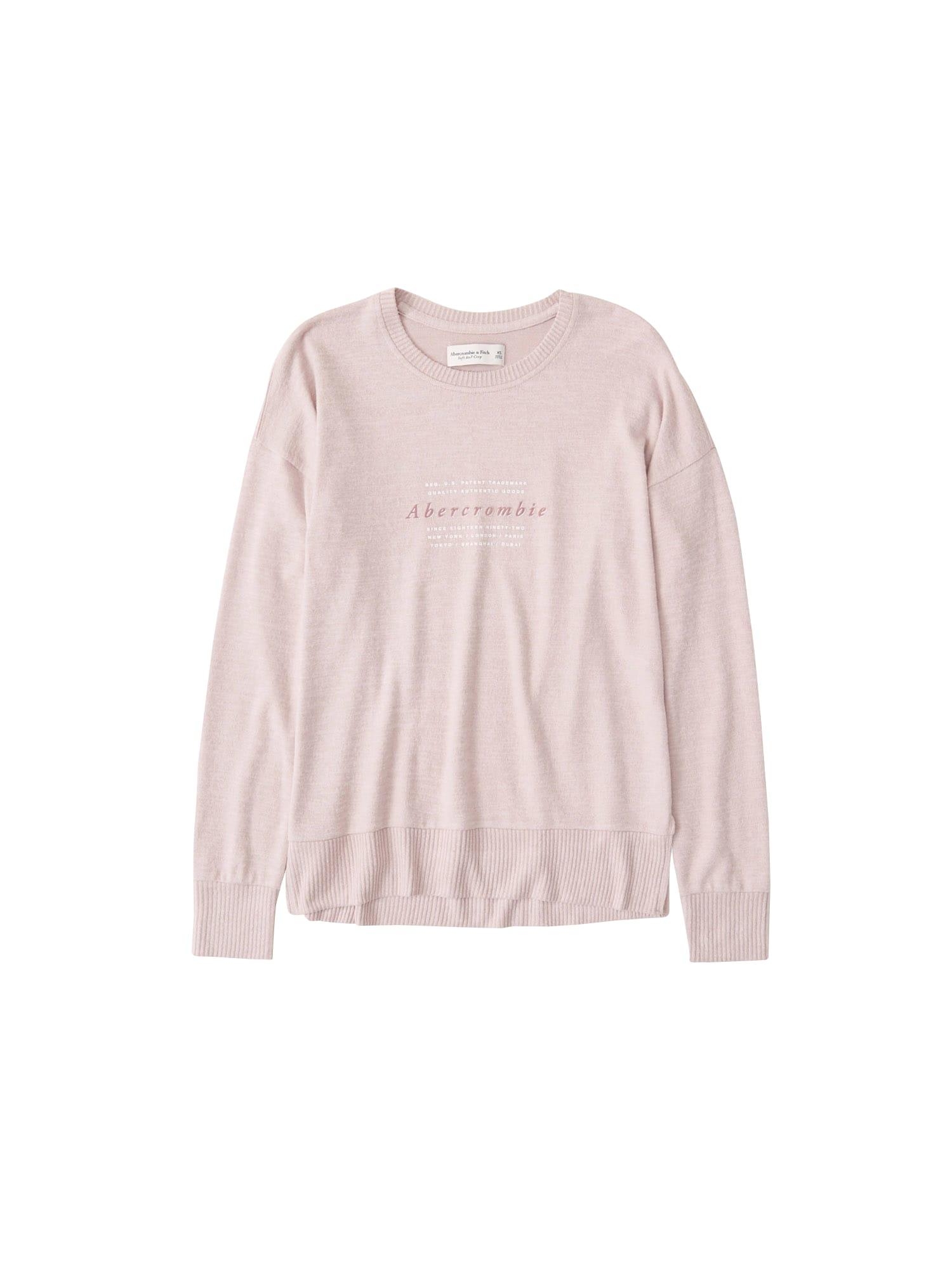 Abercrombie & Fitch Marškinėliai rožių spalva