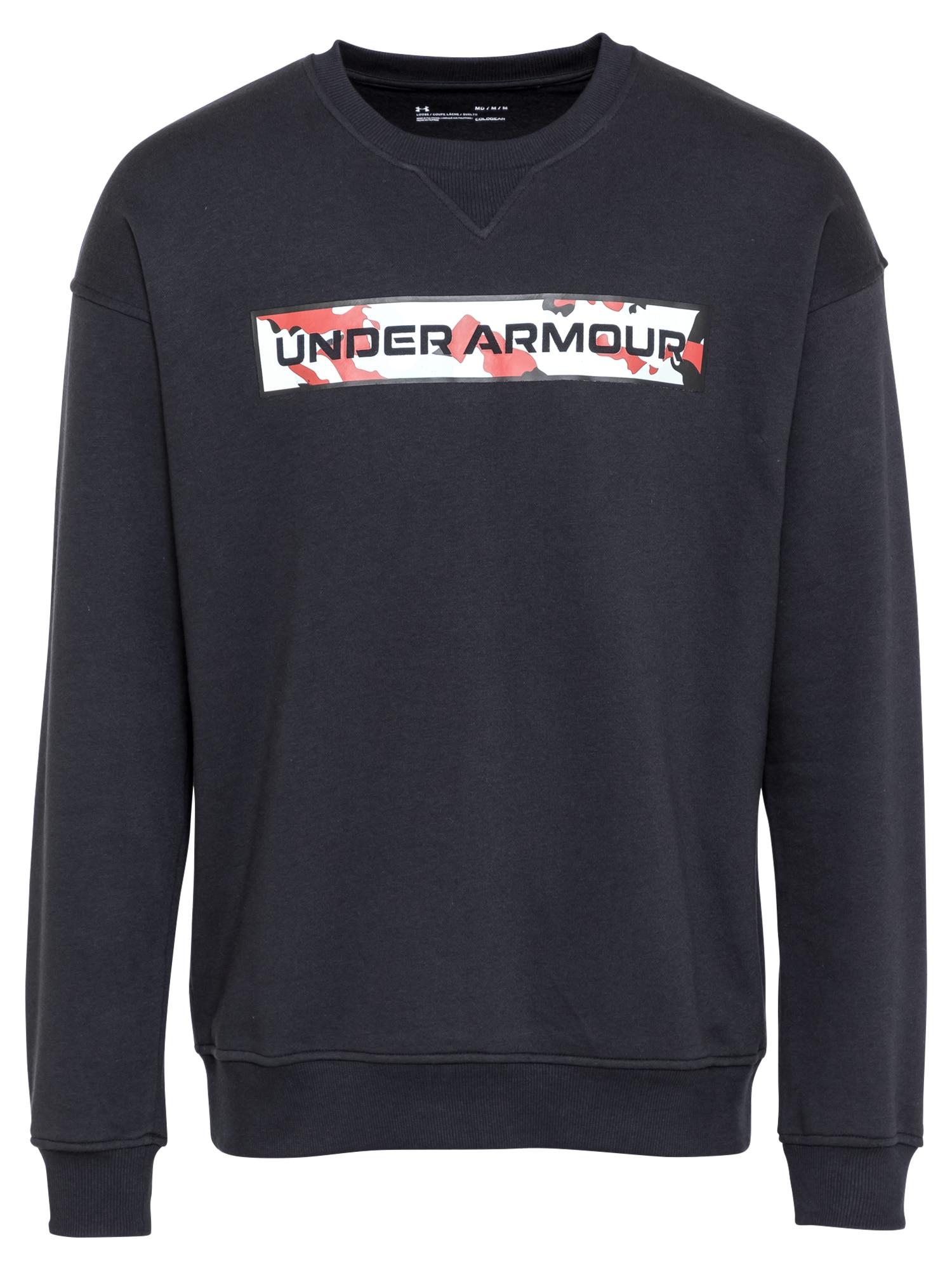 UNDER ARMOUR Sportinio tipo megztinis juoda / balta / raudona