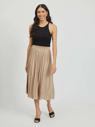 Vila Nitban Coated Pleated Midi Skirt