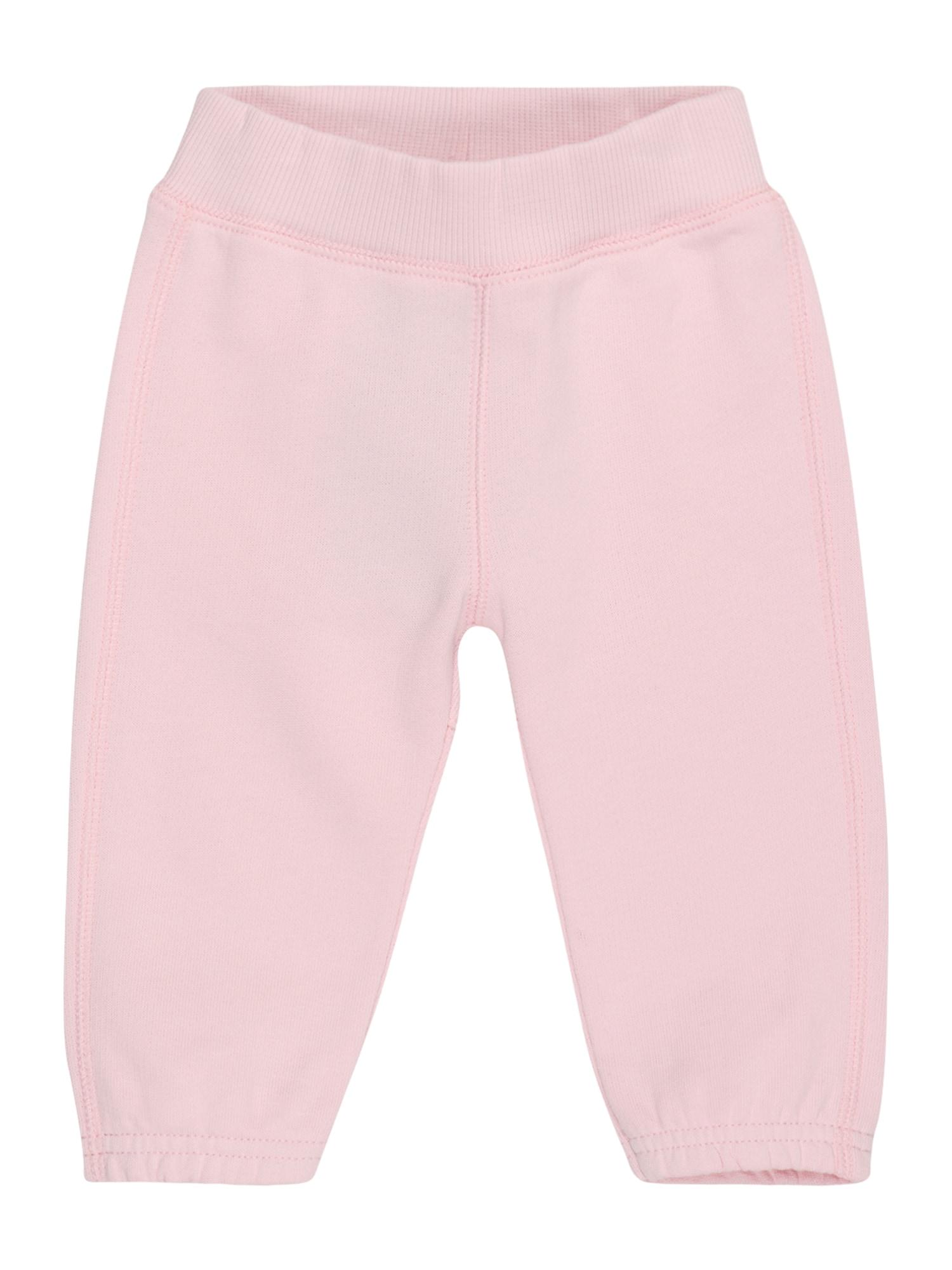 UNITED COLORS OF BENETTON Kelnės šviesiai rožinė / pilka / balta